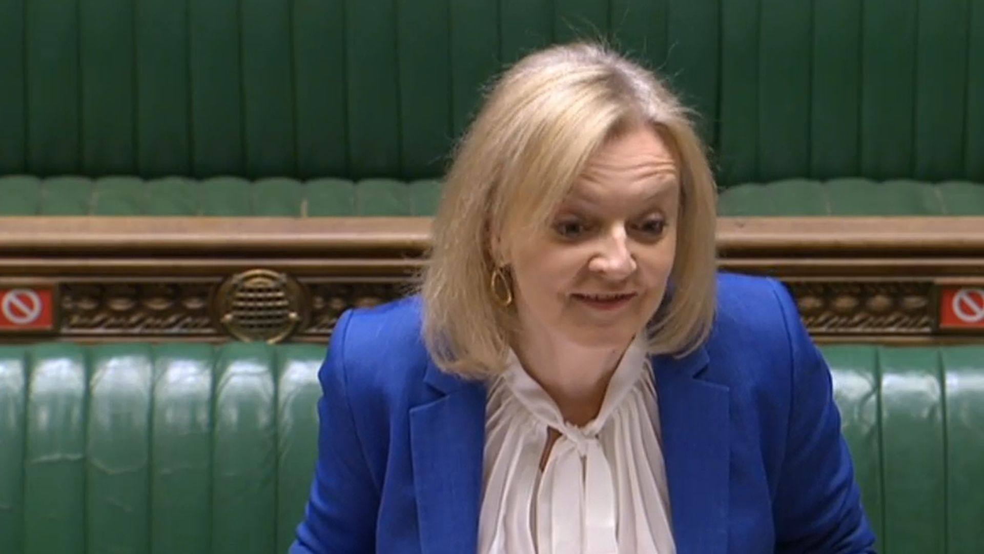International trade secretary Liz Truss in the House of Commons - Credit: Parliament Live