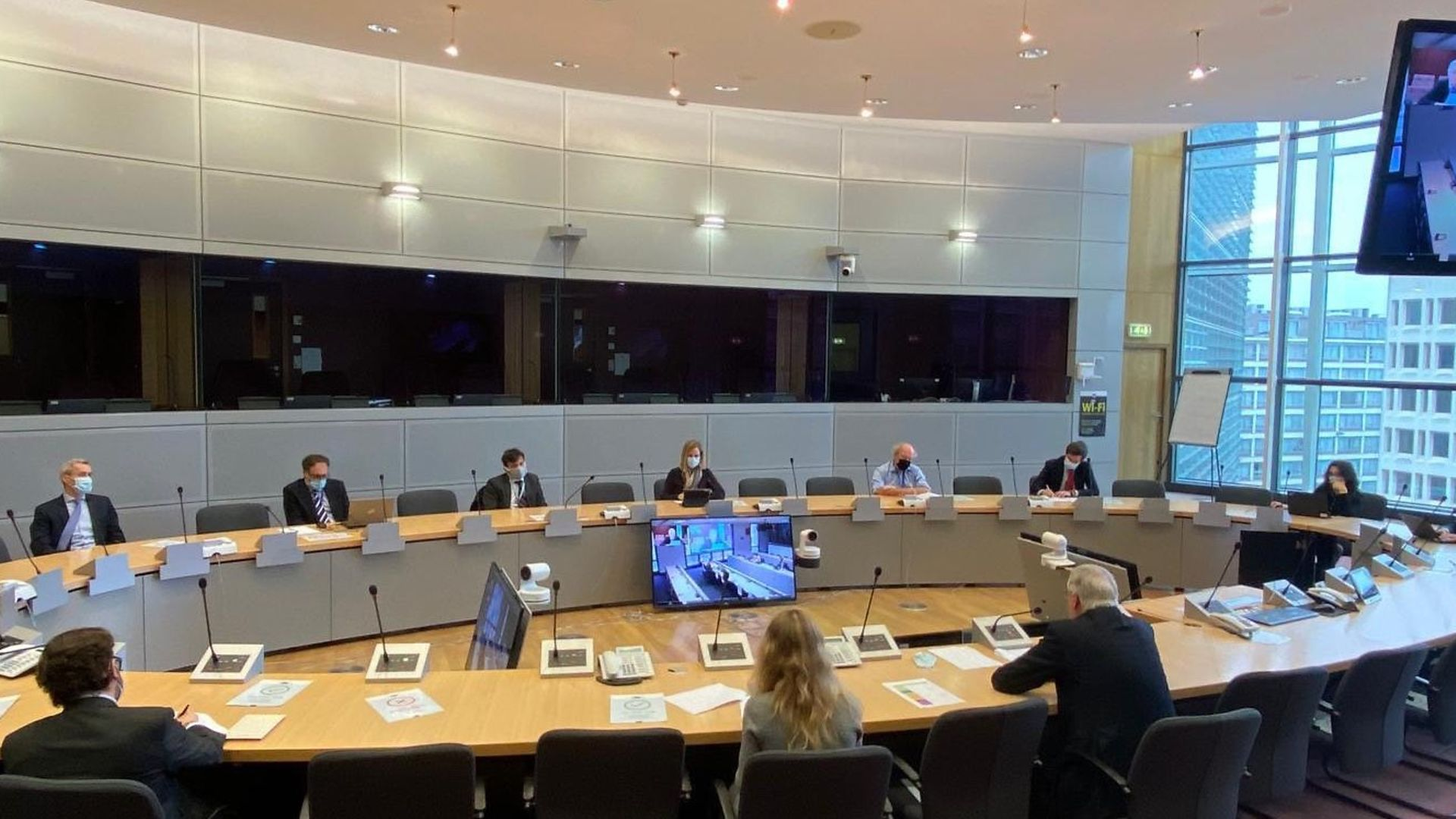 EU negotiators discuss Brexit with the UK government - Credit: Twitter