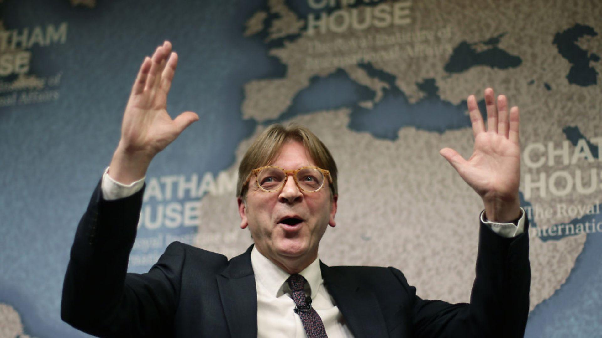 European Parliament Brexit negotiator Guy Verhofstadt. Photograph: Yui Mok/PA. - Credit: PA Archive/PA Images