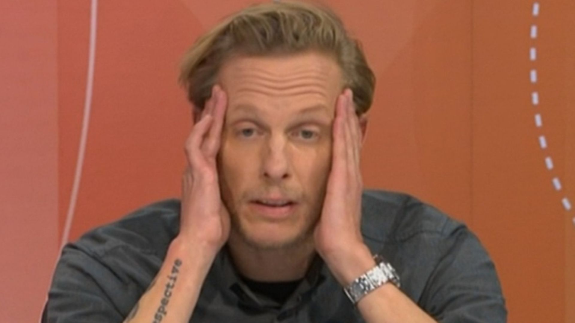 Laurence Fox on Question Time. Photograph: BBC.
