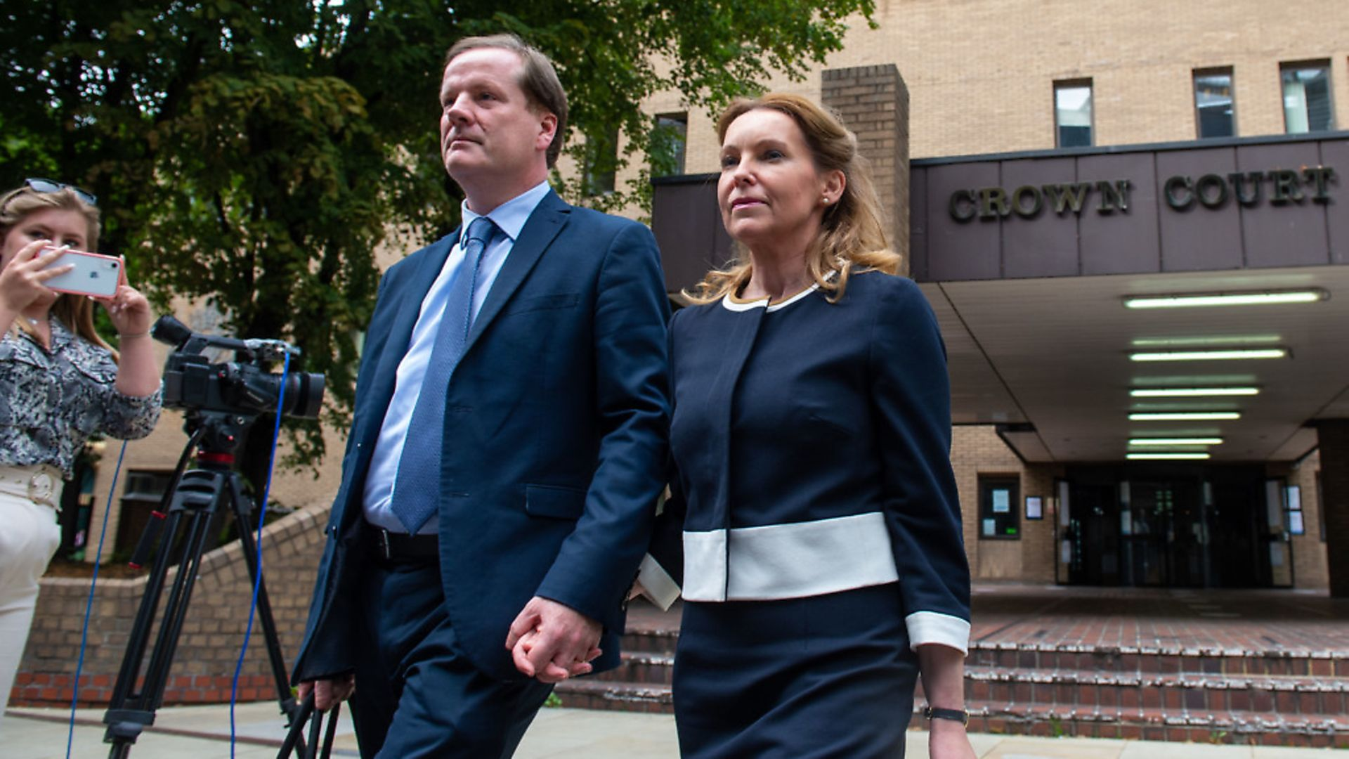 Former Conservative MP Charlie Elphicke, with MP for Dover Natalie Elphicke, leaving Southwark Crown Court in London. Photograph: Dominic Lipinski/PA Wire - Credit: PA