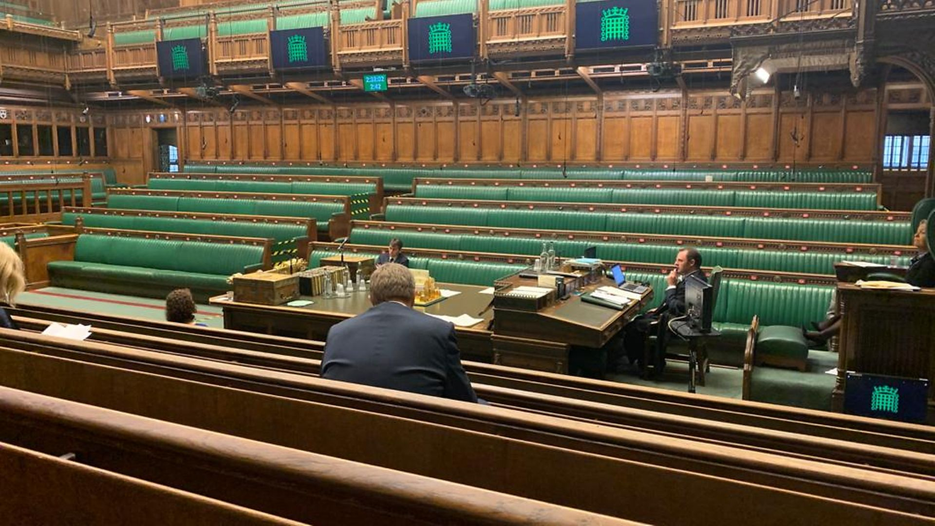 An absence of MPs in the House of Commons chamber - Credit: Alex Davies-Jones/Twitter