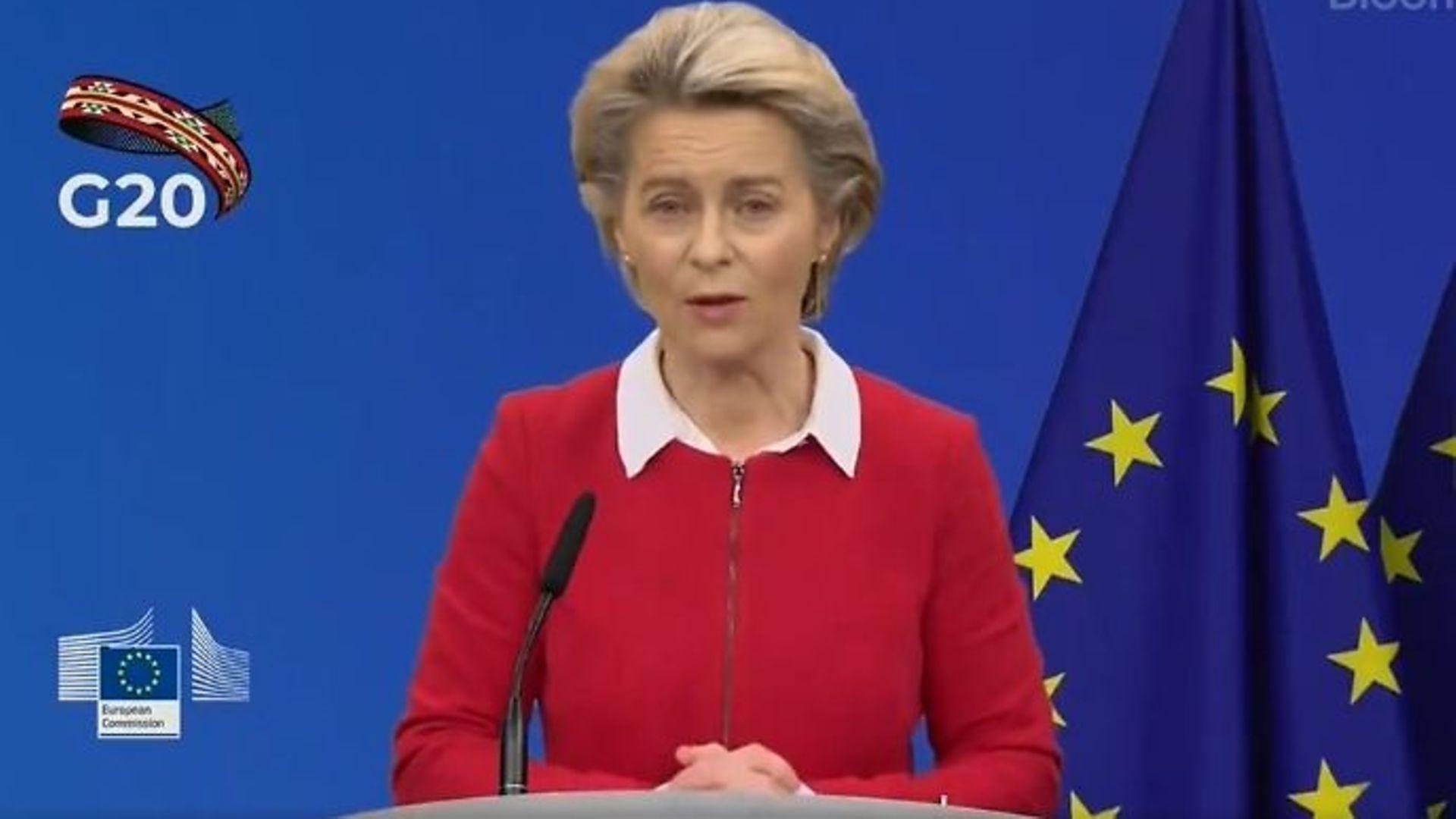EU Commission president Ursula von der Leyen - Credit: Twitter