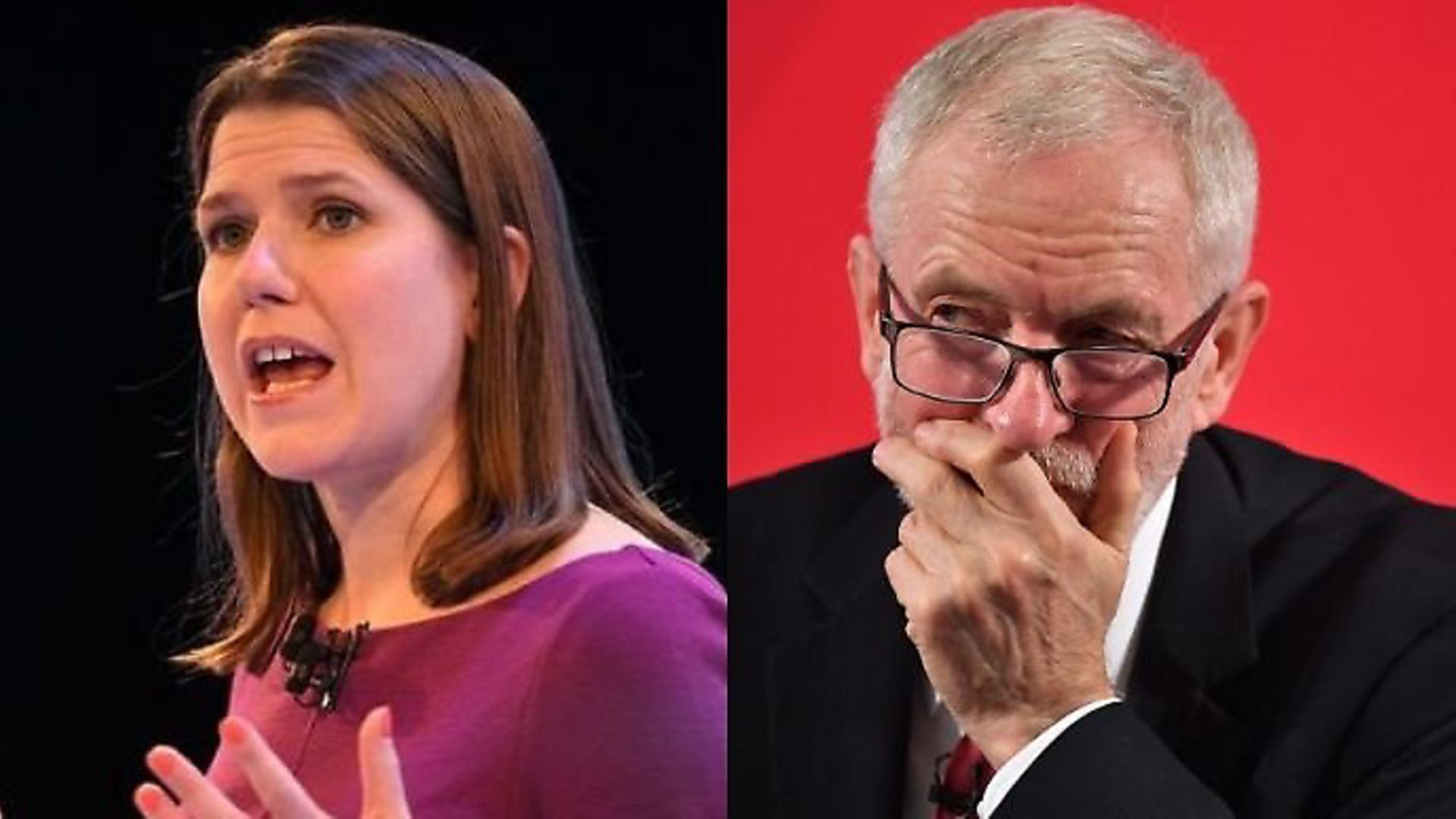 Jo Swinson and Jeremy Corbyn. Photograph: PA. - Credit: Archant
