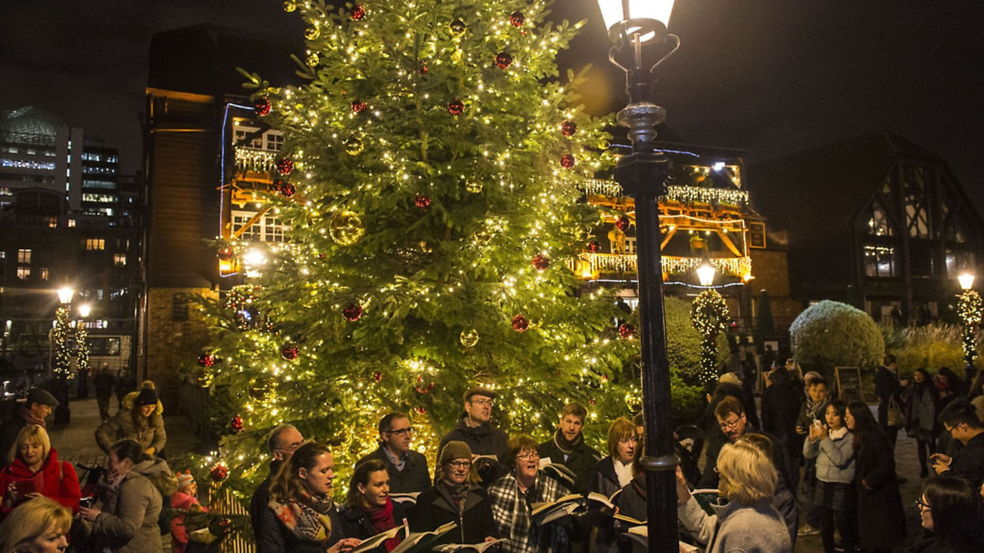 Christmas carol concert on the quayside always goes down well each year at St Katharine's. Picture: Lucy Young - Credit: Lucy Young