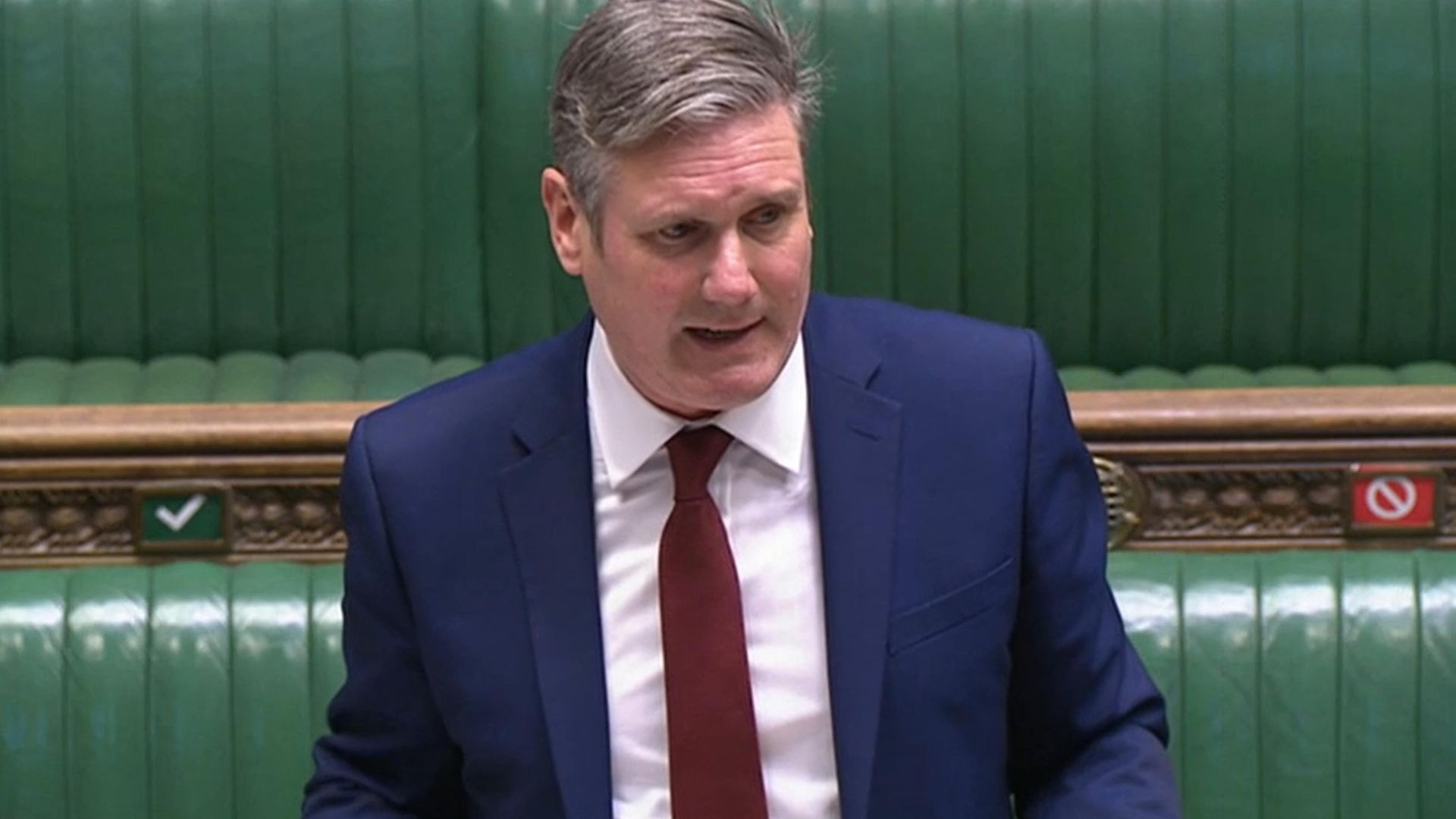 Labour Party leader Keir Starmer responds to prime minister Boris Johnson's statement to the House of Commons - Credit: PA