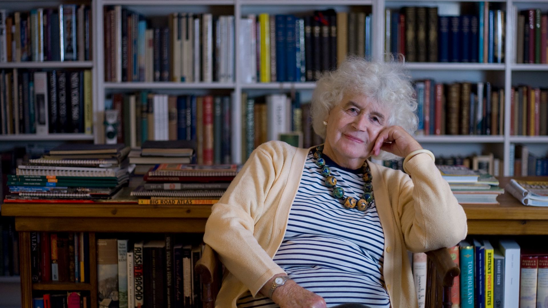 Jan Morris, pictured at her home near the village of Llanystumdwy in Gwynedd, north Wales - Credit: Corbis via Getty Images