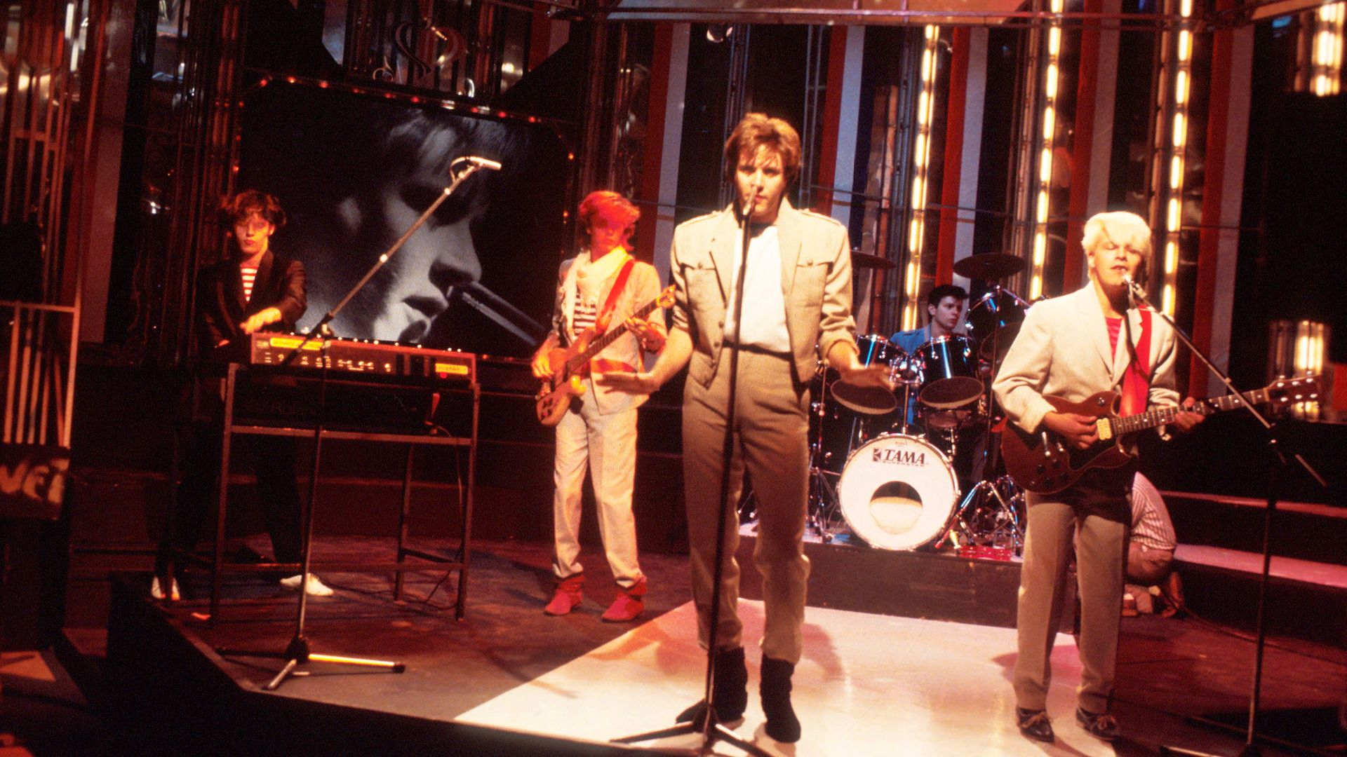 Duran Duran perform Girls on Film on Top of the Pops in 1981 - Credit: Getty Images