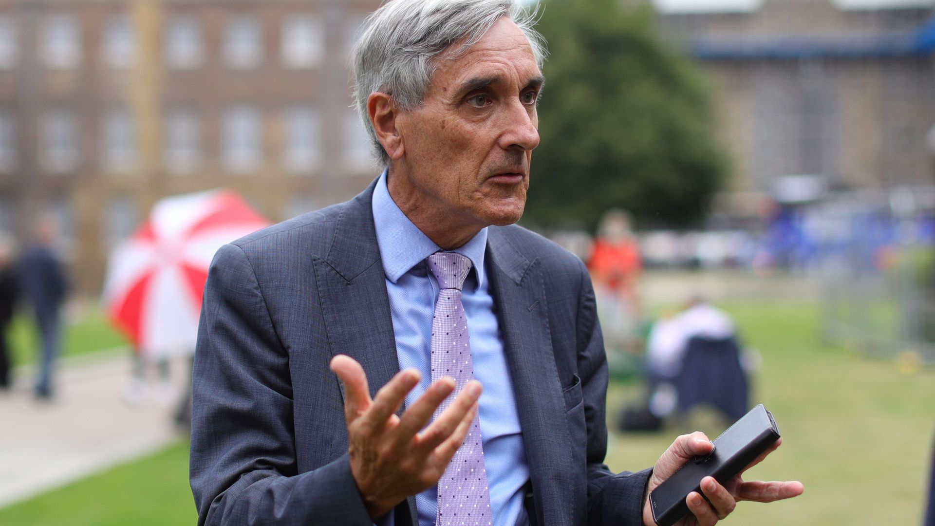 Conservative MP John Redwood in Westminster, London. - Credit: PA