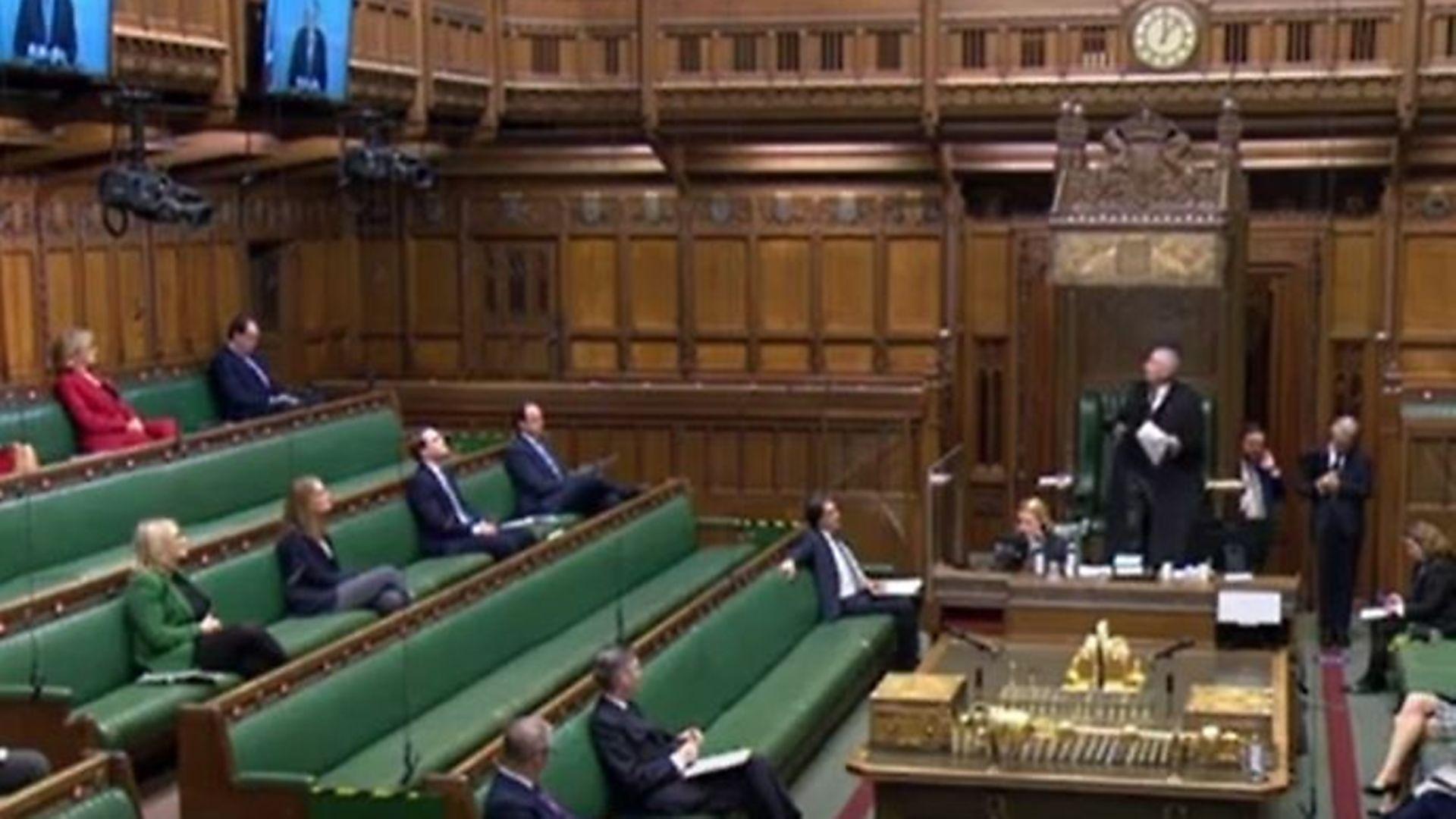 Parliament during PMQs - Credit: Parliamentlive.tv