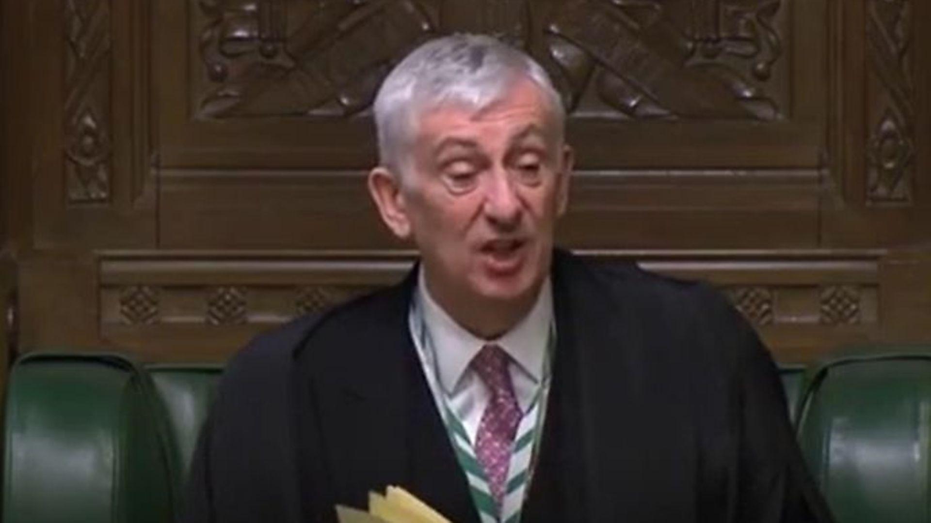 Commons speaker Sir Lindsay Hoyle - Credit: Parliamentlive.tv
