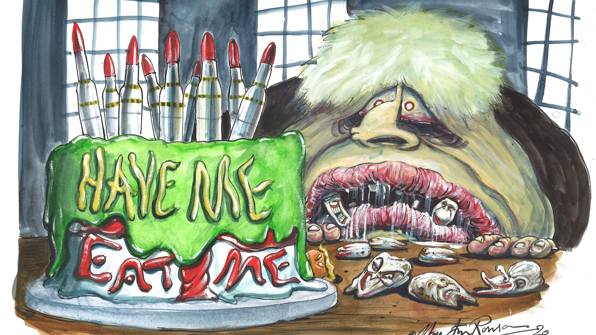 Boris Johnson wants to have his cake and eat it. - Credit: Martin Rowson