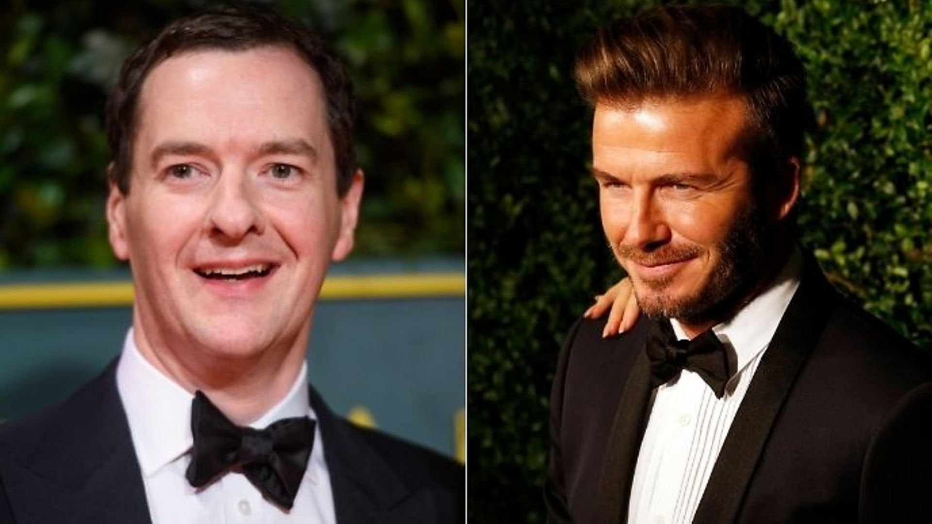 George Osborne (L) had considered giving retired England footballer David Beckham (R) a ministerial post when he was chancellor of the exchequer - Credit: PA