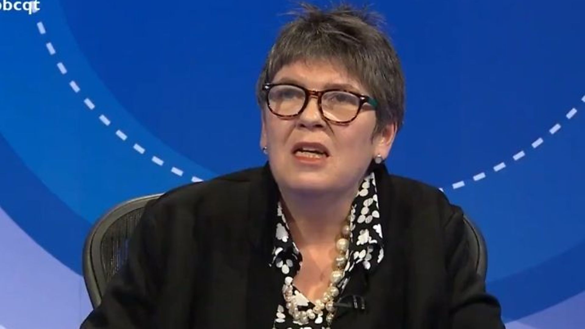 Claire Fox on Question Time - Credit: Twitter