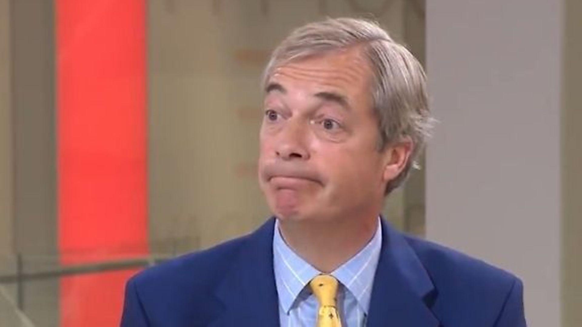 Nigel Farage - Credit: Sky News