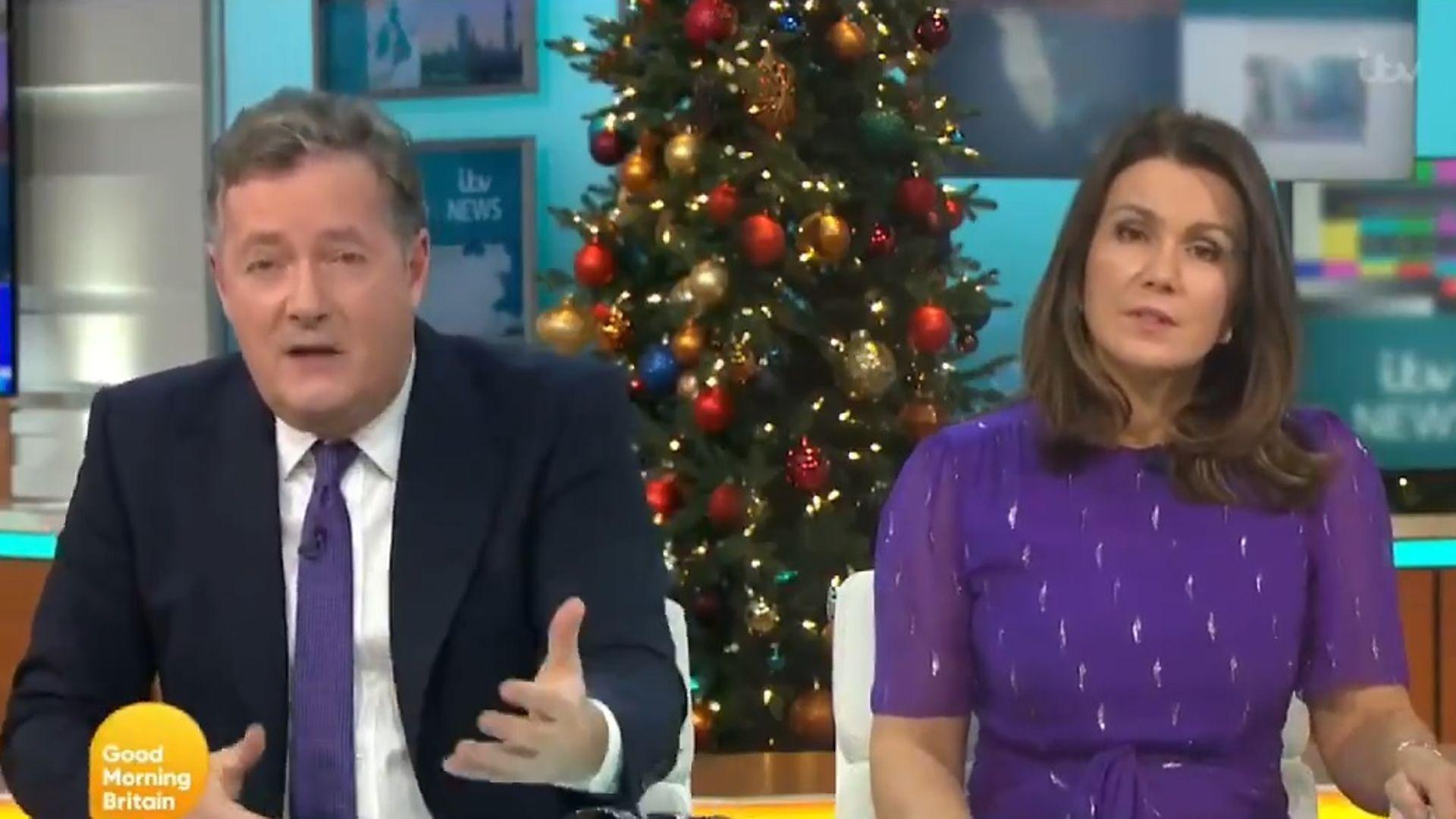 Piers Morgan and Susanna Reid tear apart Laurence Fox's lockdown tweet - Credit: Good Morning Britain/ITV
