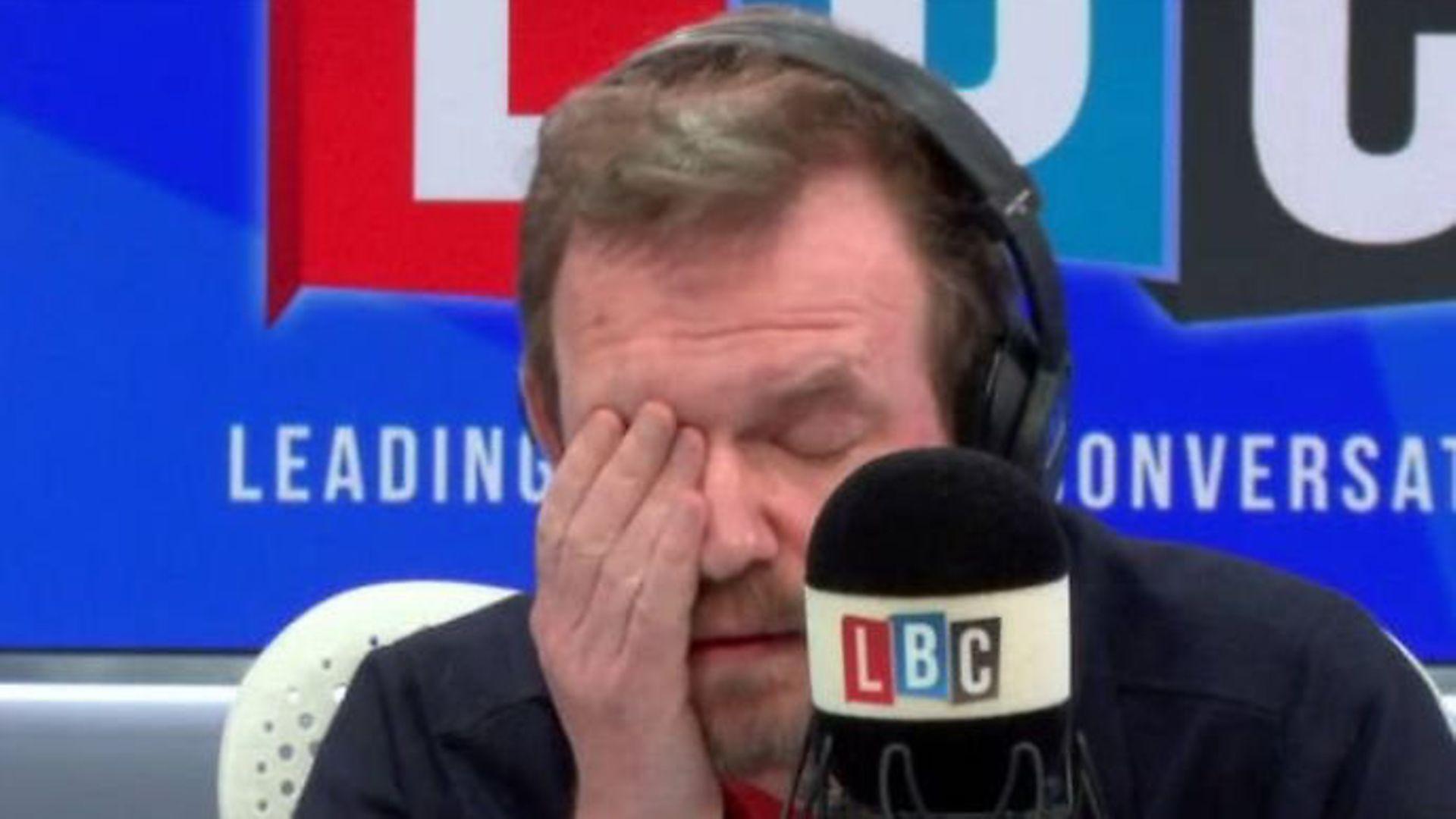 James O'Brien appears on his LBC radio programme - Credit: LBC/Global