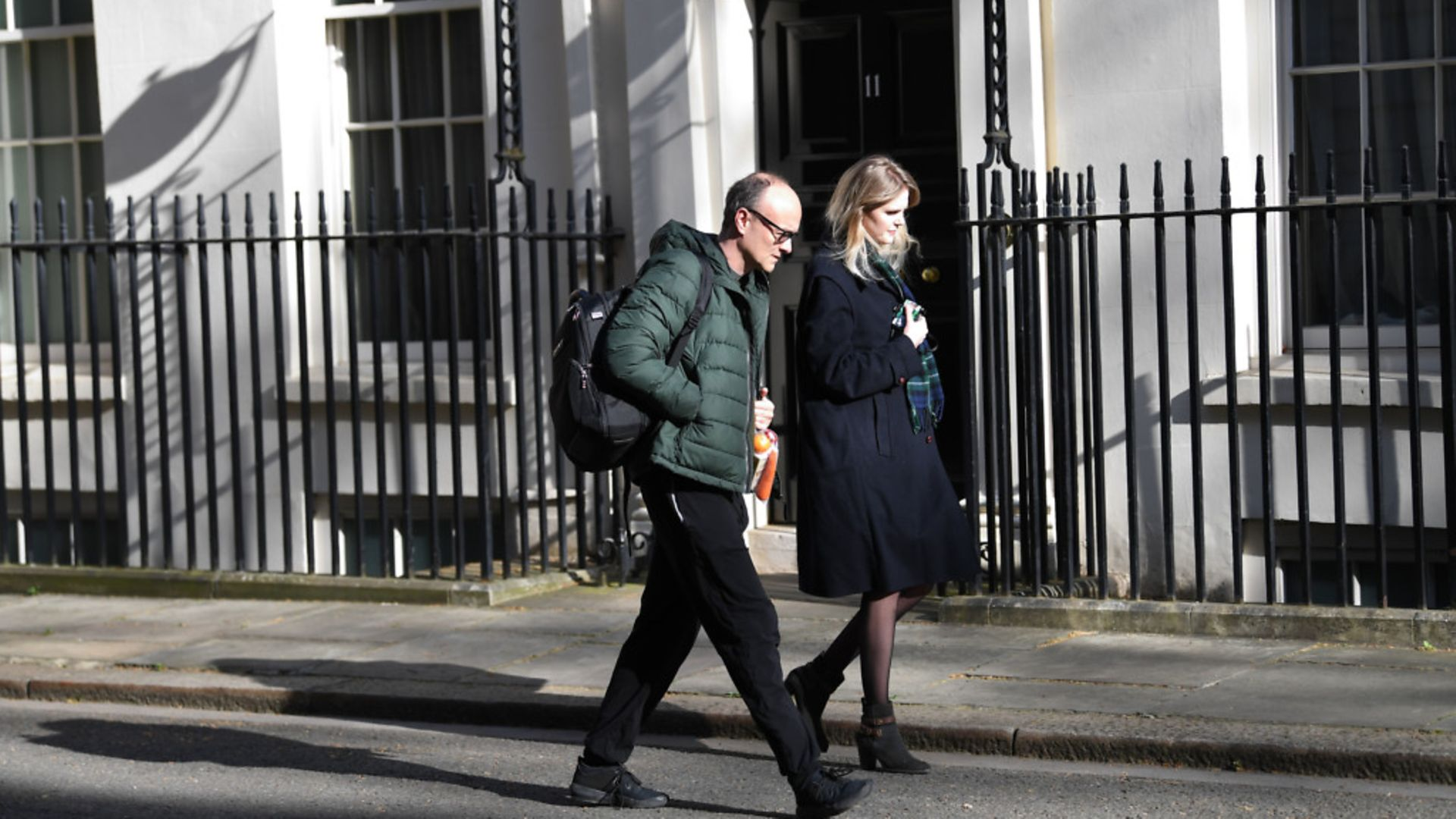 Prime Minister Boris Johnson's key adviser Dominic Cummings and his assistant Cleo Watson arrive in Downing Street - Credit: PA