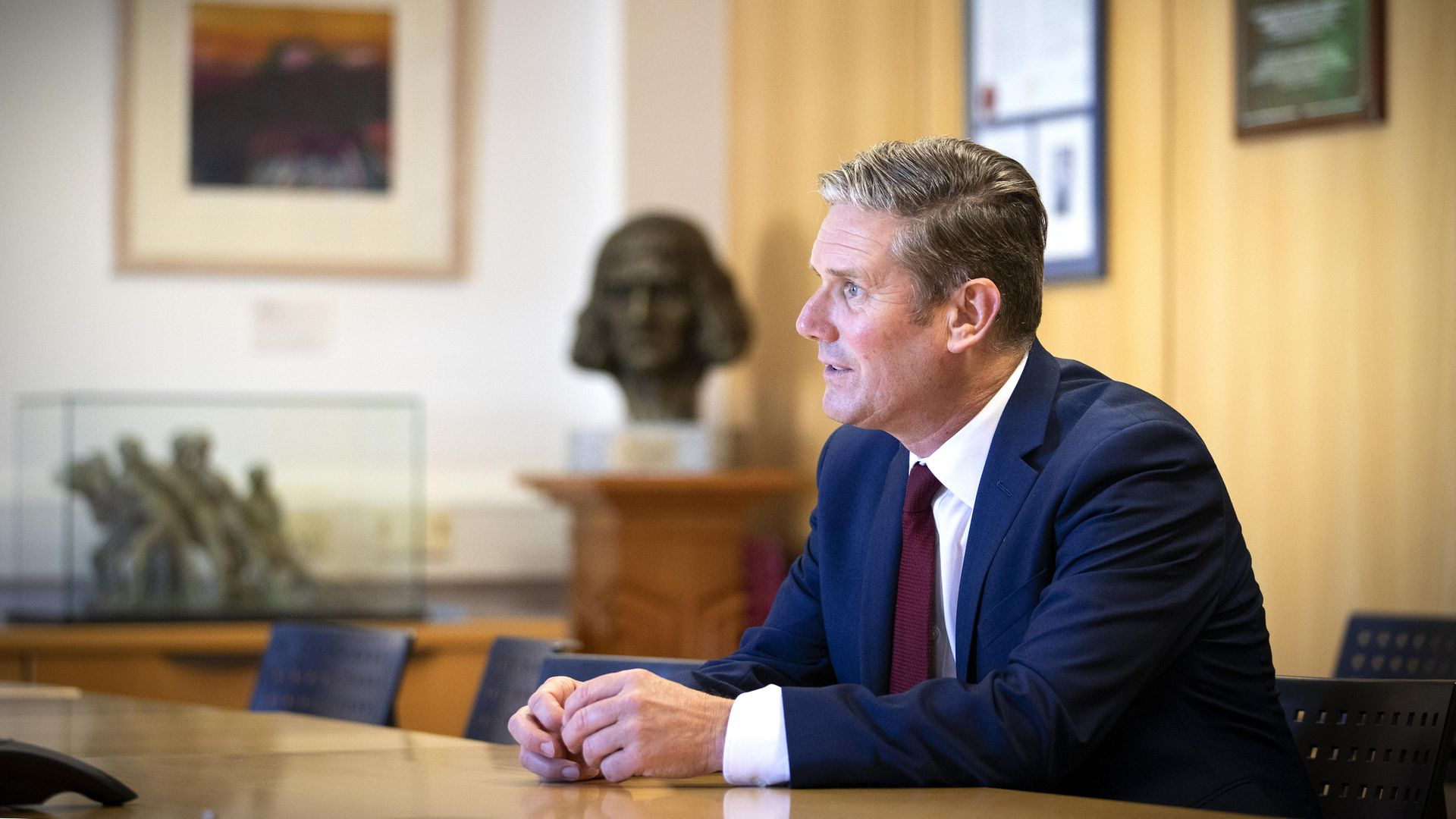 Labour leader Sir Keir Starmer during a visit to the University of Edinburgh School of Medicine. - Credit: PA