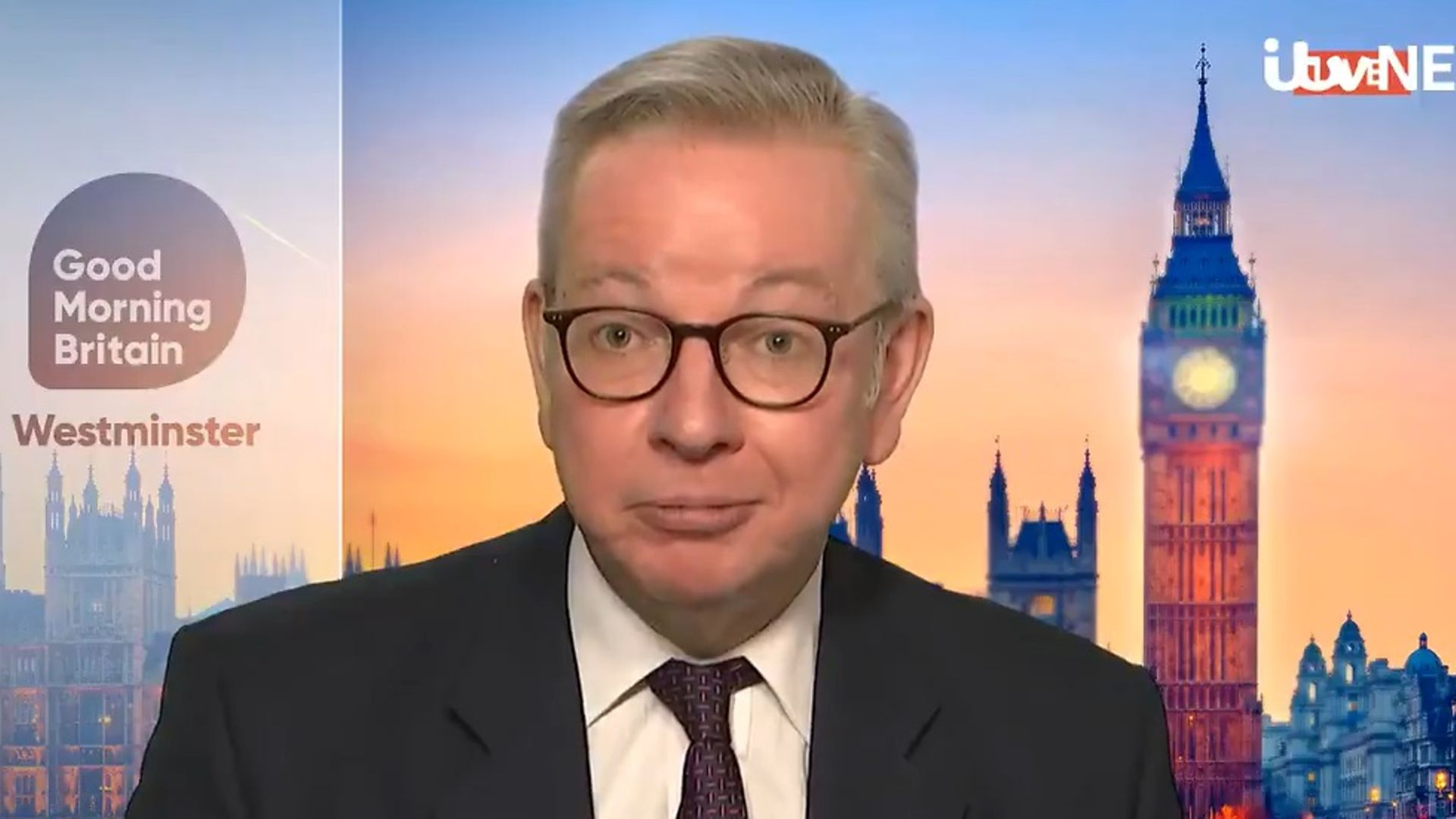 Michael Gove on Good Morning Britain - Credit: ITV