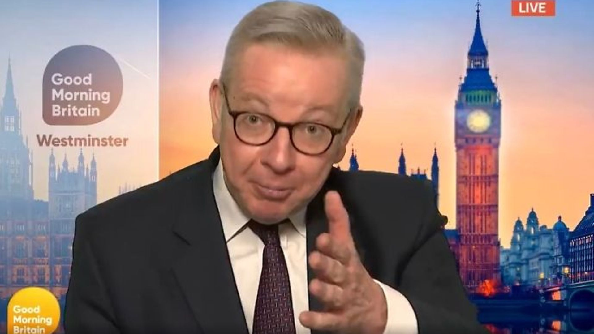 Michael Gove has been accused of going 'full Trump' after he challenged Good Morning Britain ratings - Credit: Twitter