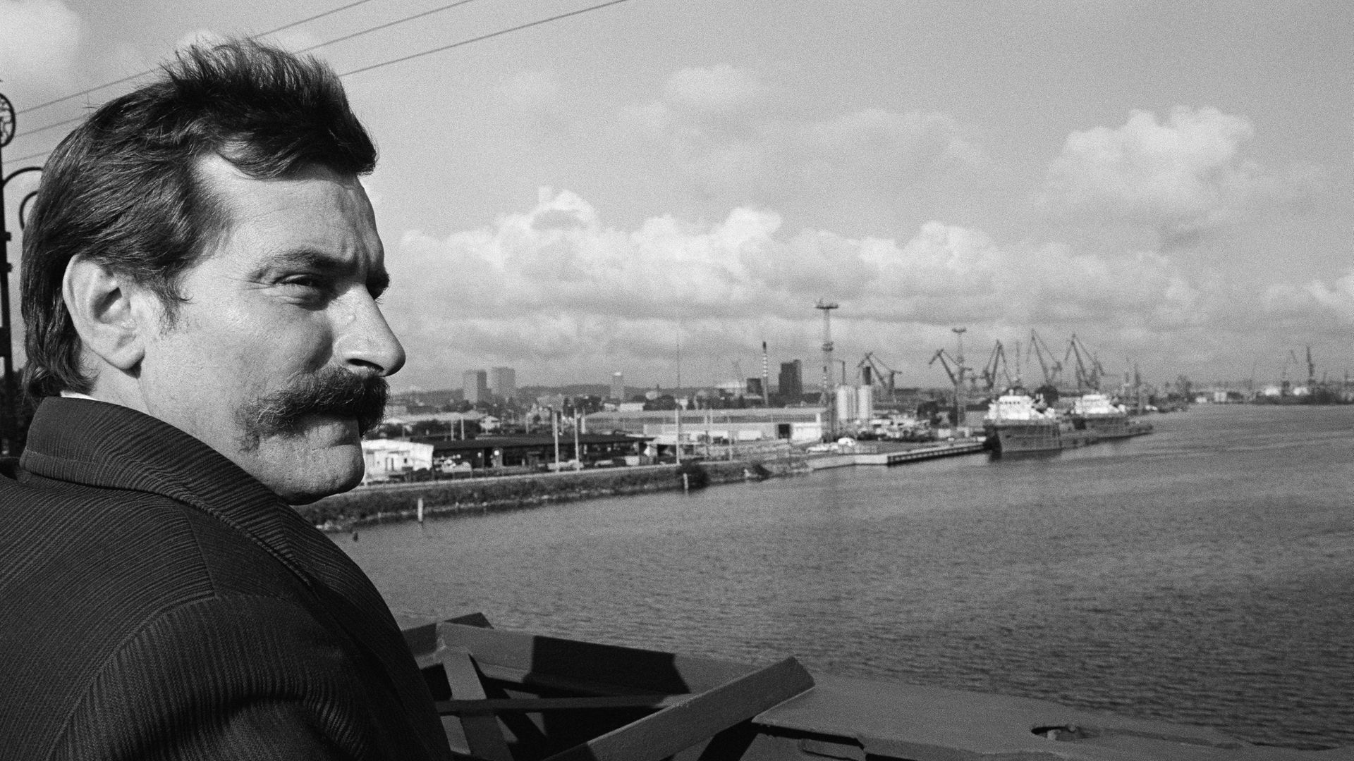 Leader of Polish trade union Solidarnosc (Solidarity) Lech Walesa at the Gdansk docks. - Credit: Sygma via Getty Images