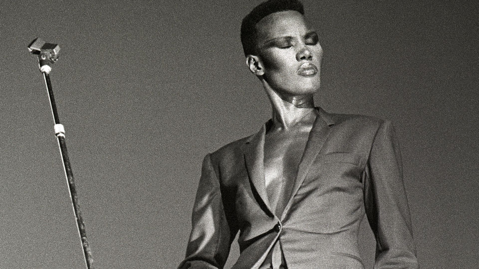 Grace Jones at the Carre theatre, Amsterdam, in 1981 - Credit: Redferns