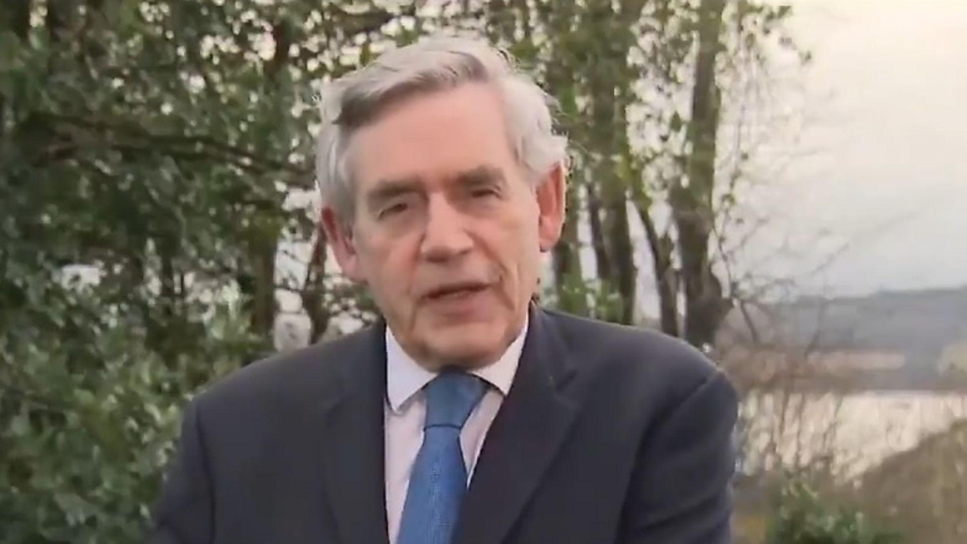 Gordon Brown on Sophy Ridge on Sunday - Credit: Sky News