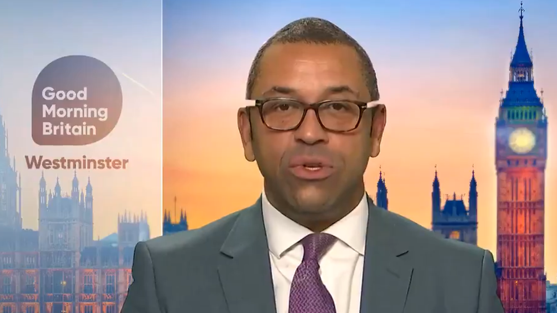 James Cleverly on Good Morning Britain - Credit: ITV