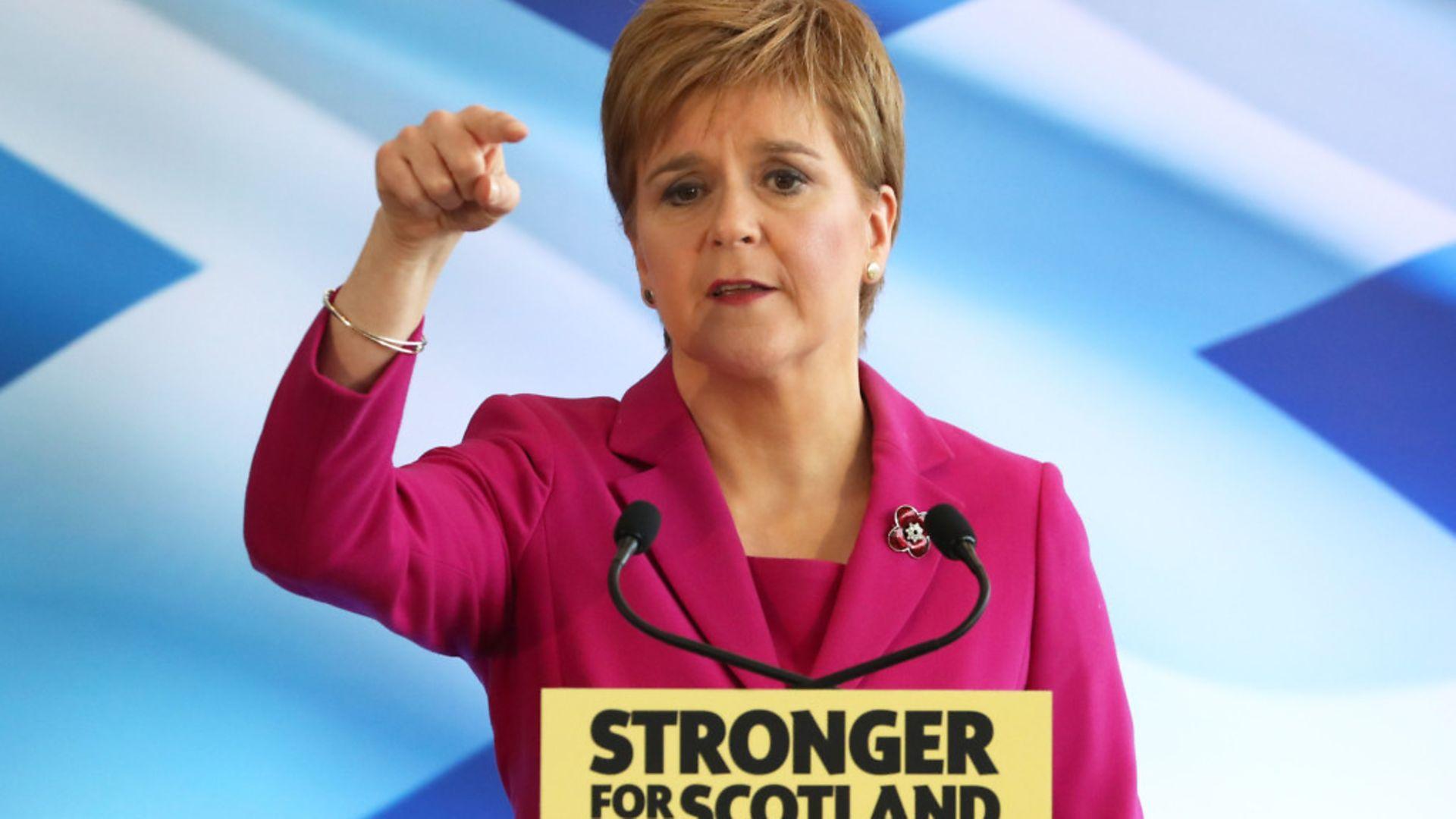 Scottish National Party (SNP) leader Nicola Sturgeon - Credit: PA