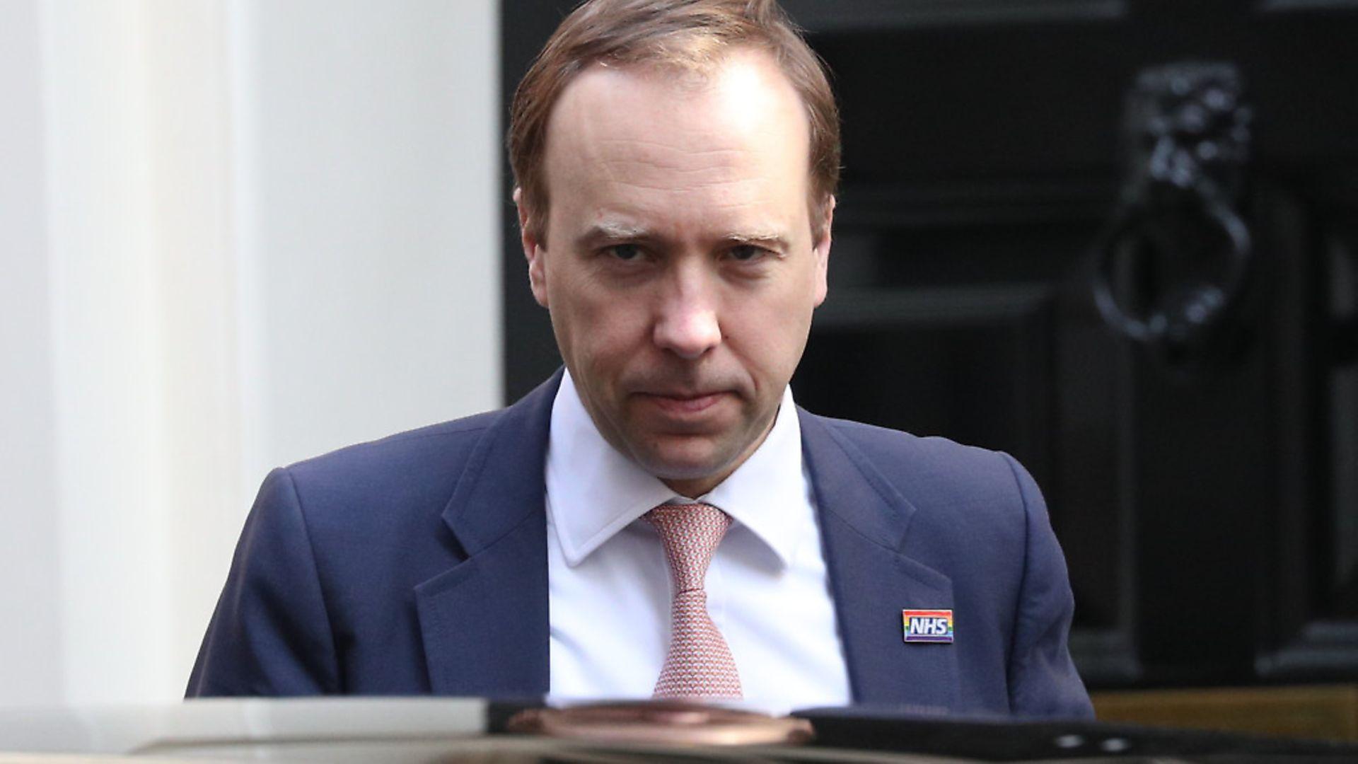 Health minister Matt Hancock leaves Downing Street. - Credit: PA