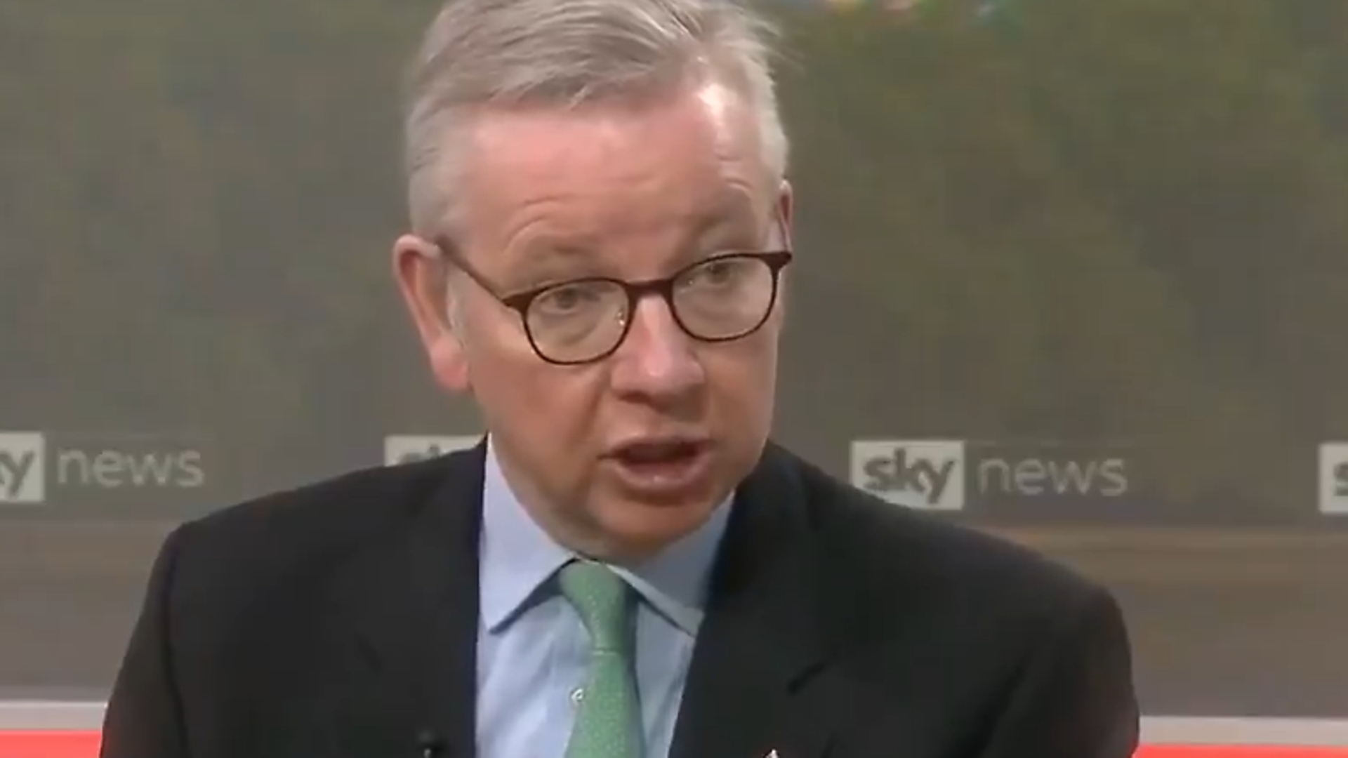 Michael Gove is asked about Brexit developments - Credit: Sky News