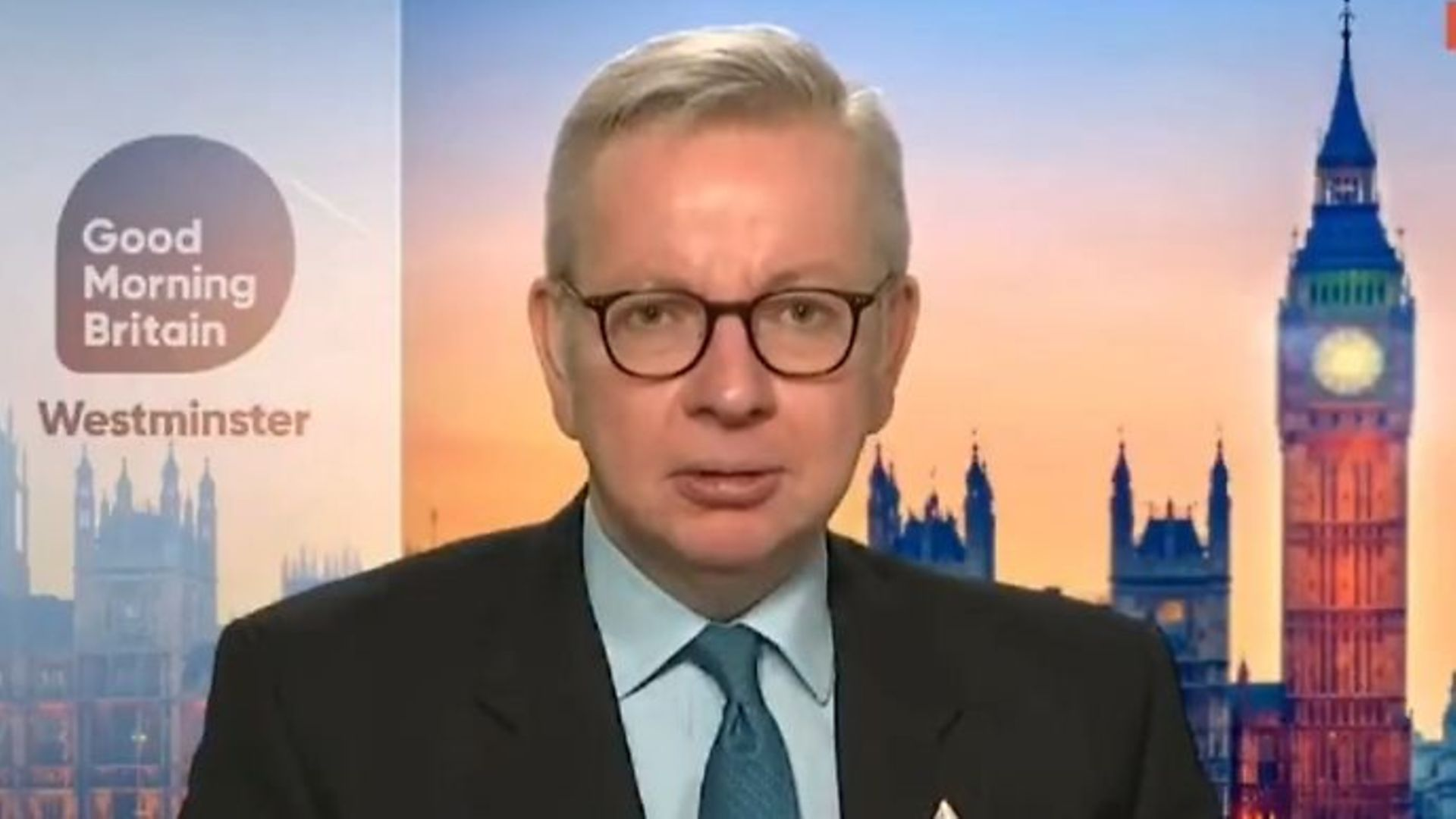 Michael Gove on Good Morning Britain - Credit: Twitter