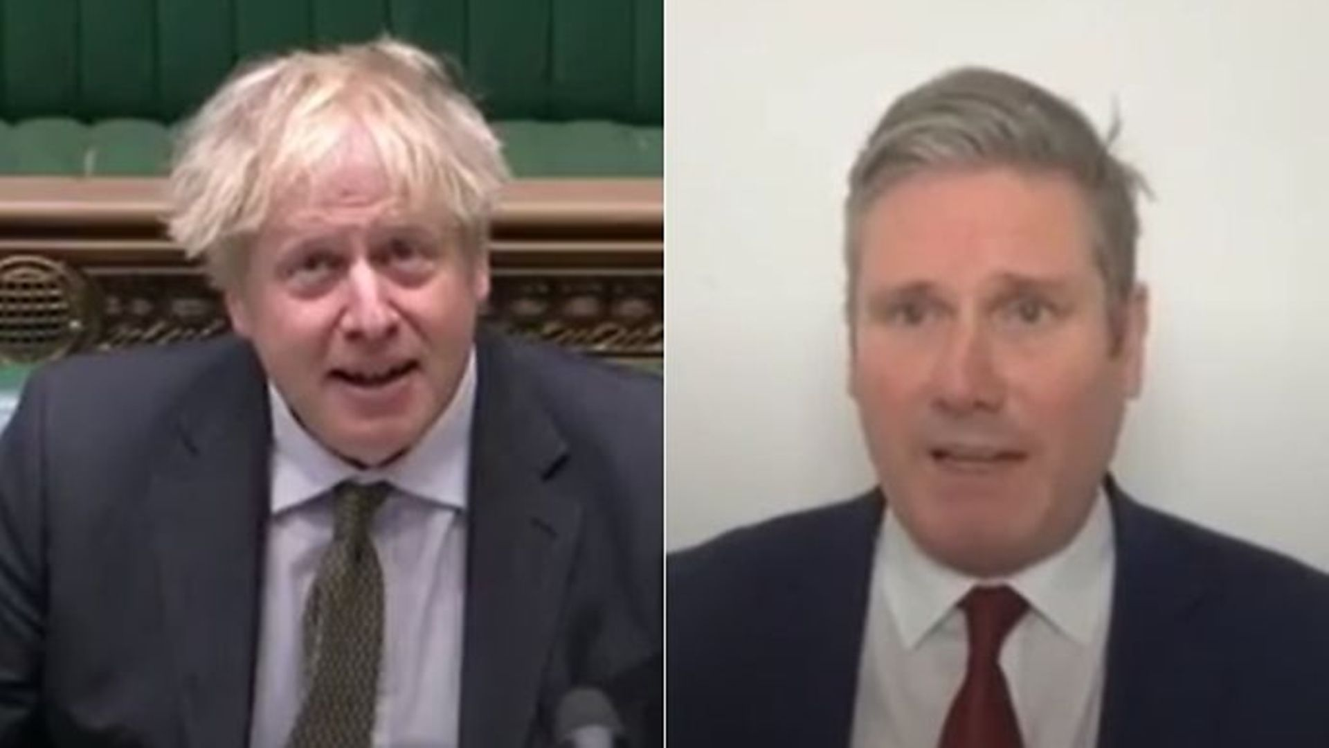 Boris Johnson (L) and Keir Starmer (R) - Credit: Parliamentlive.tv