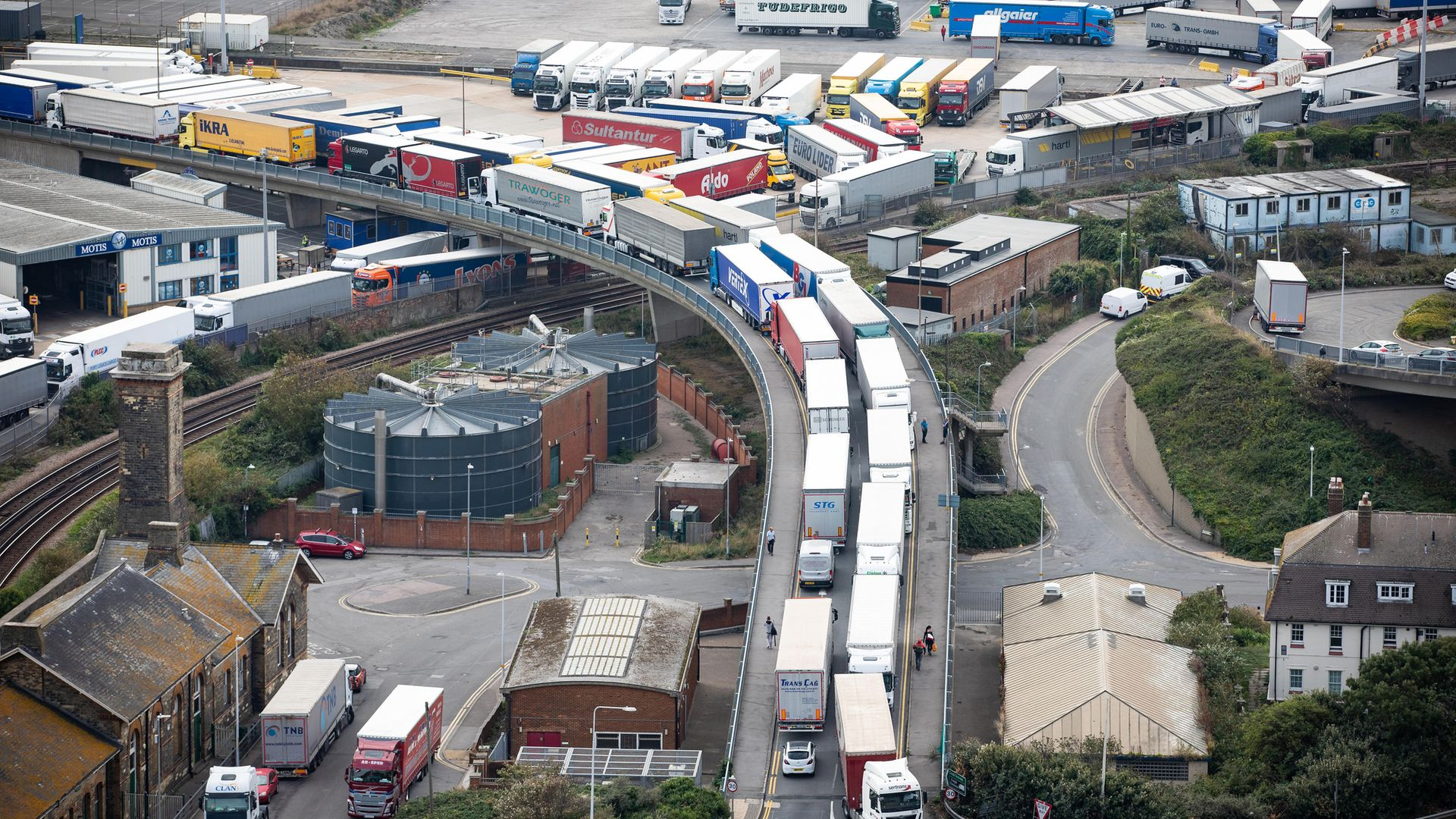 Lorry drivers will need a special permit to enter Kent from neighbouring counties after Brexit - Credit: PA