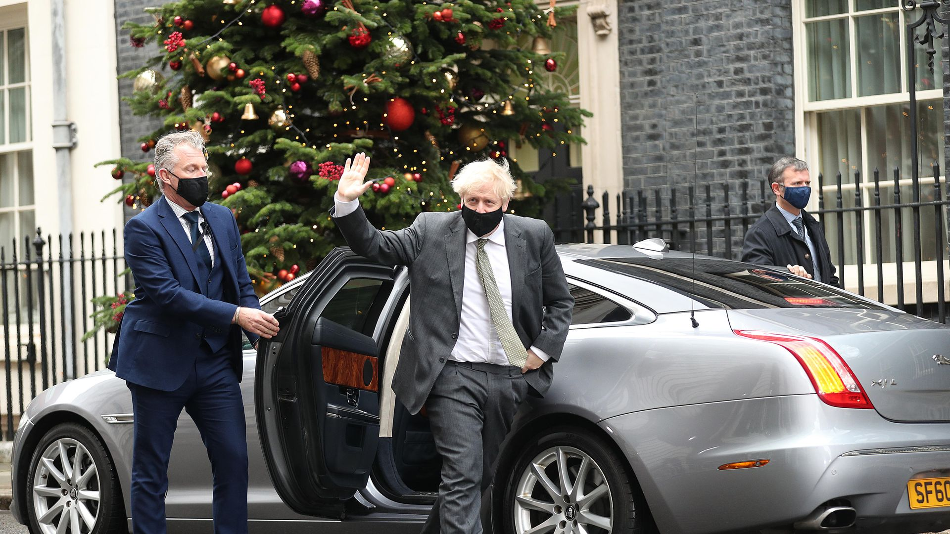Prime minister Boris Johnson returns to 10 Downing Street after attending Prime Minister's Questions at the Houses of Parliament, London. - Credit: PA