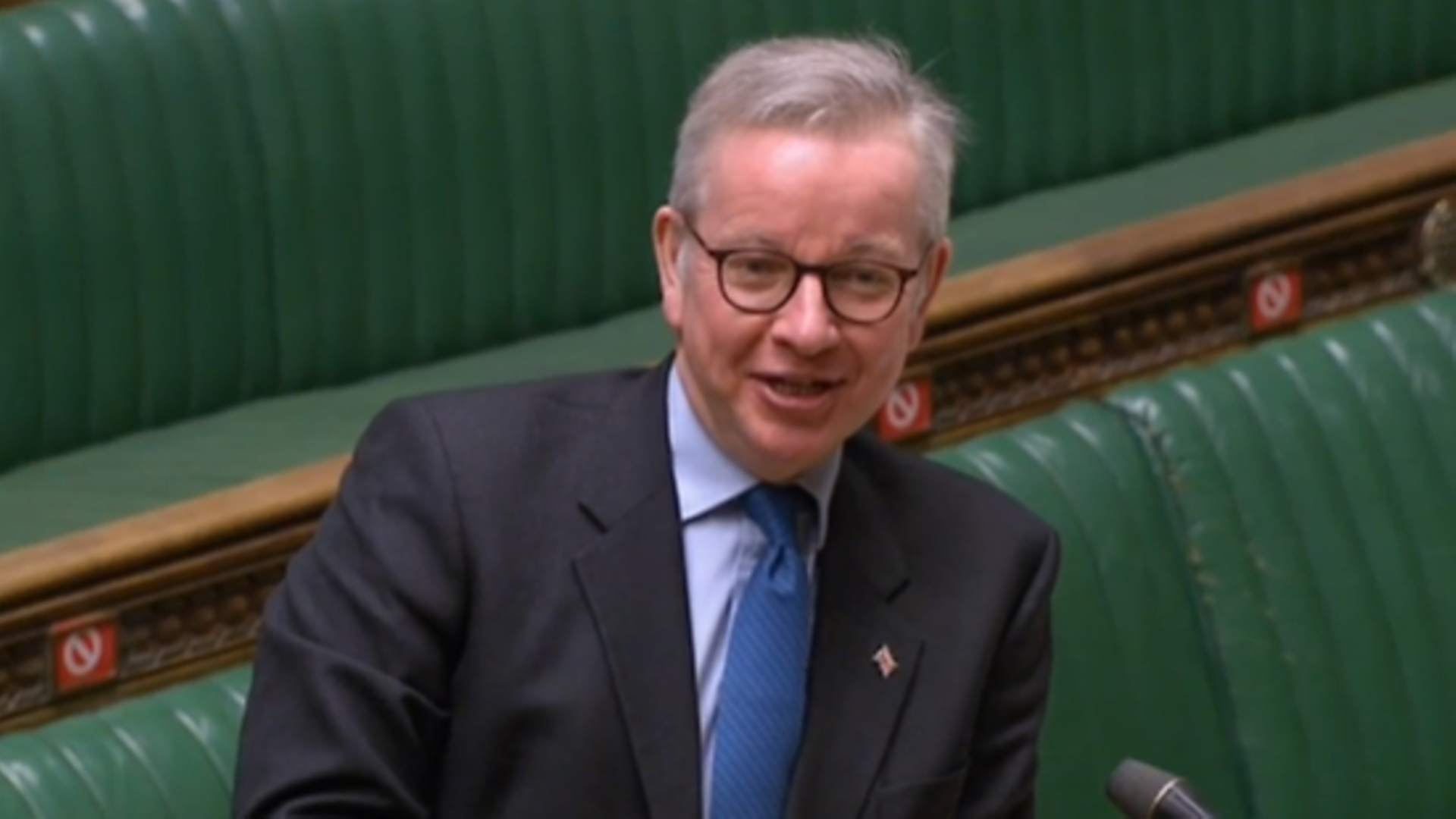 Michael Gove fields questions in the House of Commons - Credit: Parliament Live