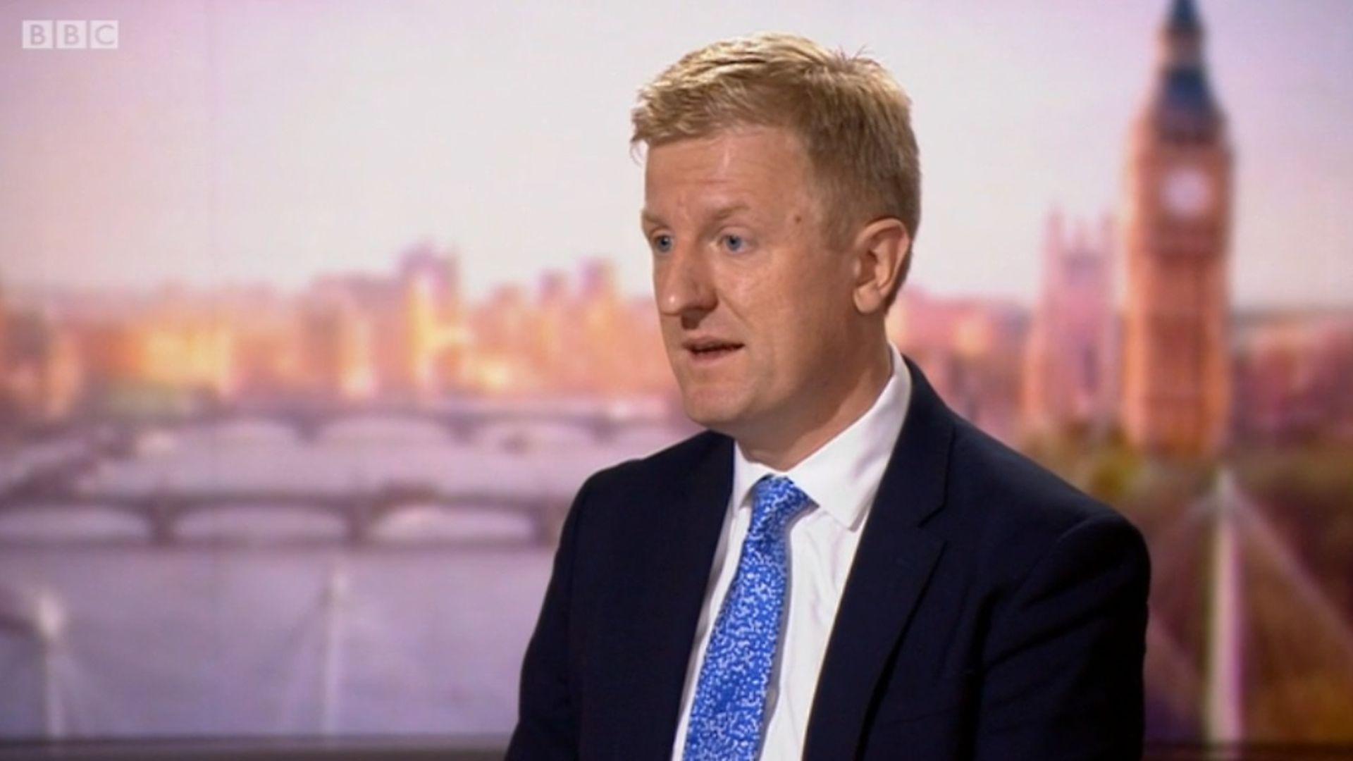 Culture secretary Oliver Dowden - Credit: Andrew Marr Show/BBC