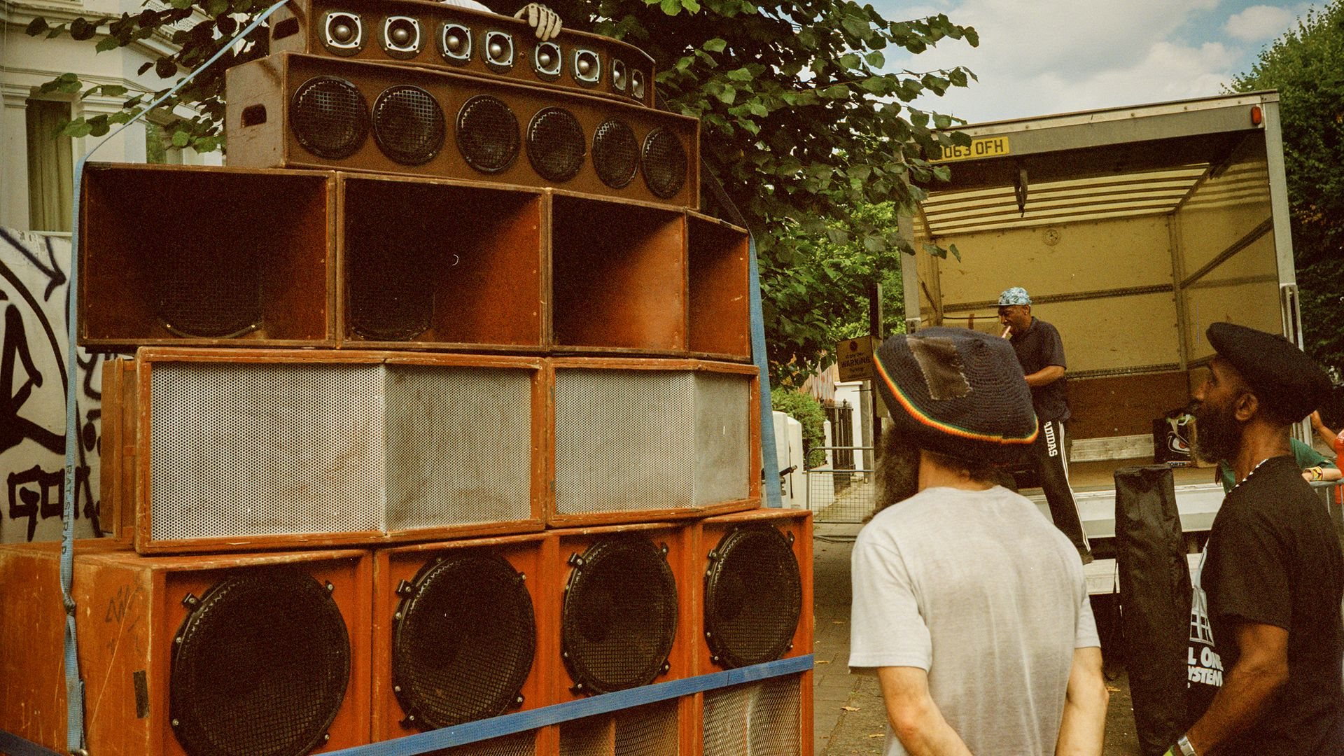 Channel One Sound System at Notting Hill Carnival 2019. - Credit: © Eddie Otchere/Museum of London