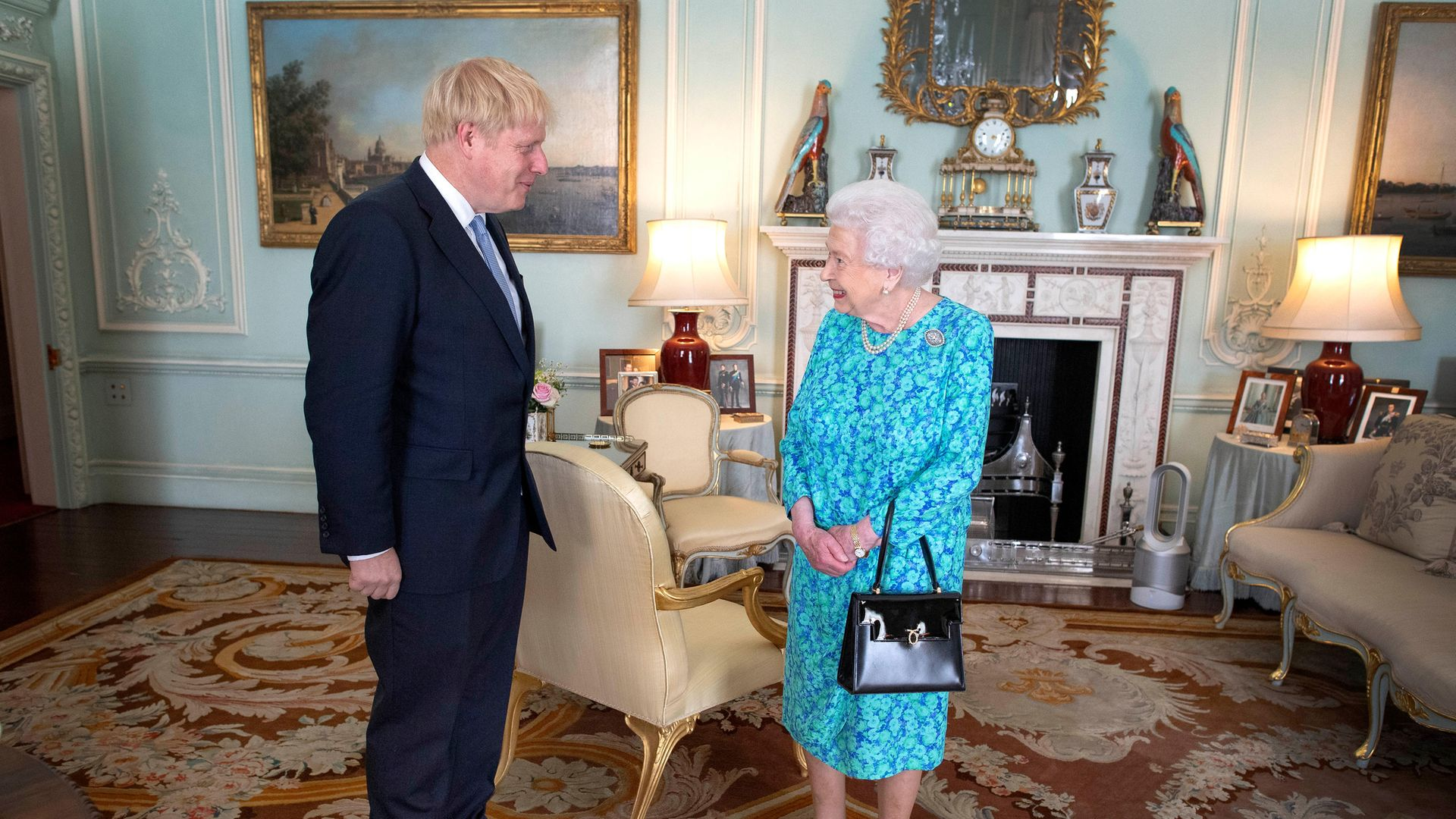 Q is for Queen... the one Boris Johnson lied to. Photograph: PA.