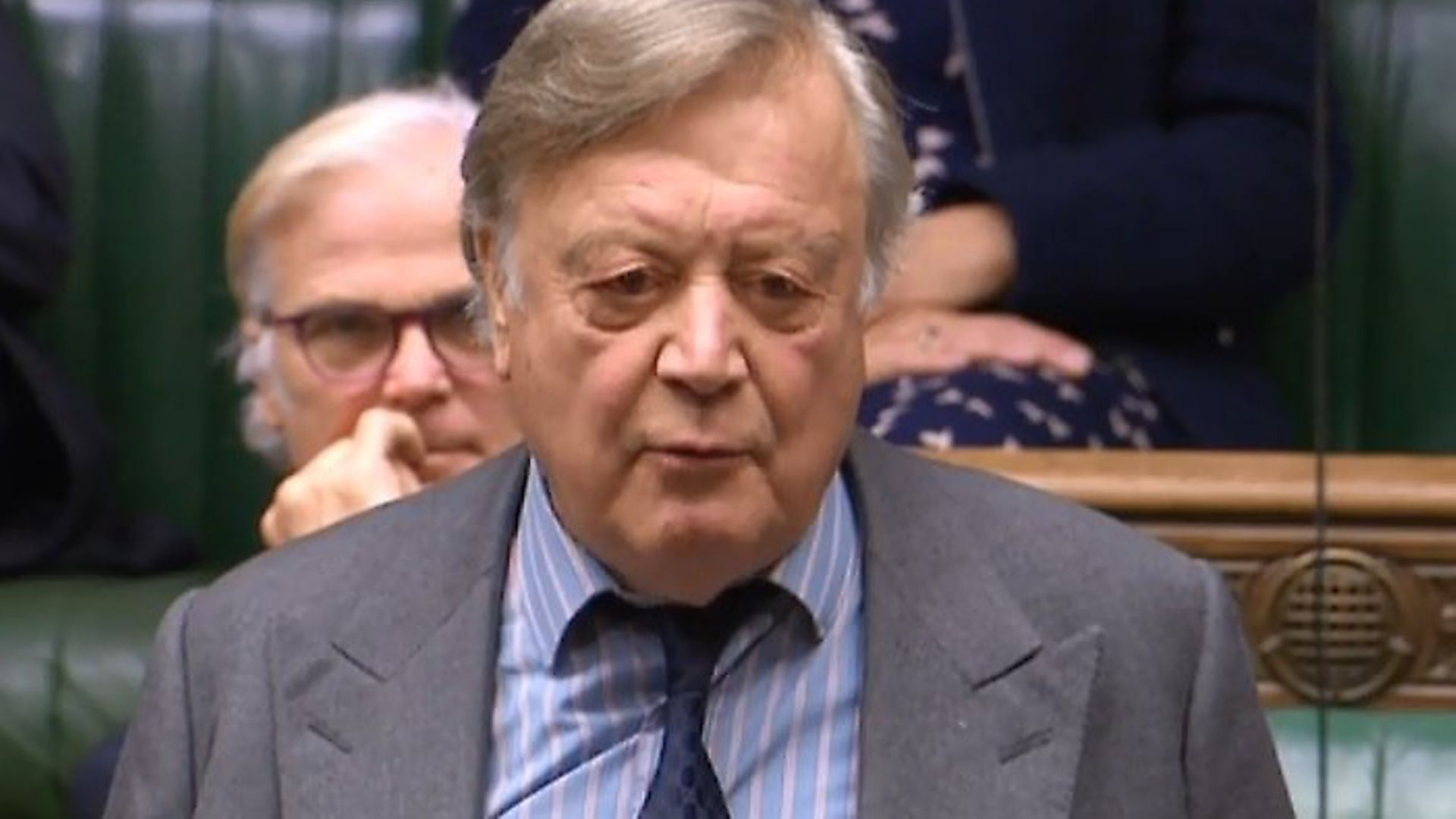 Ken Clarke in the House of Commons. Photograph: Parliament TV. - Credit: Archant