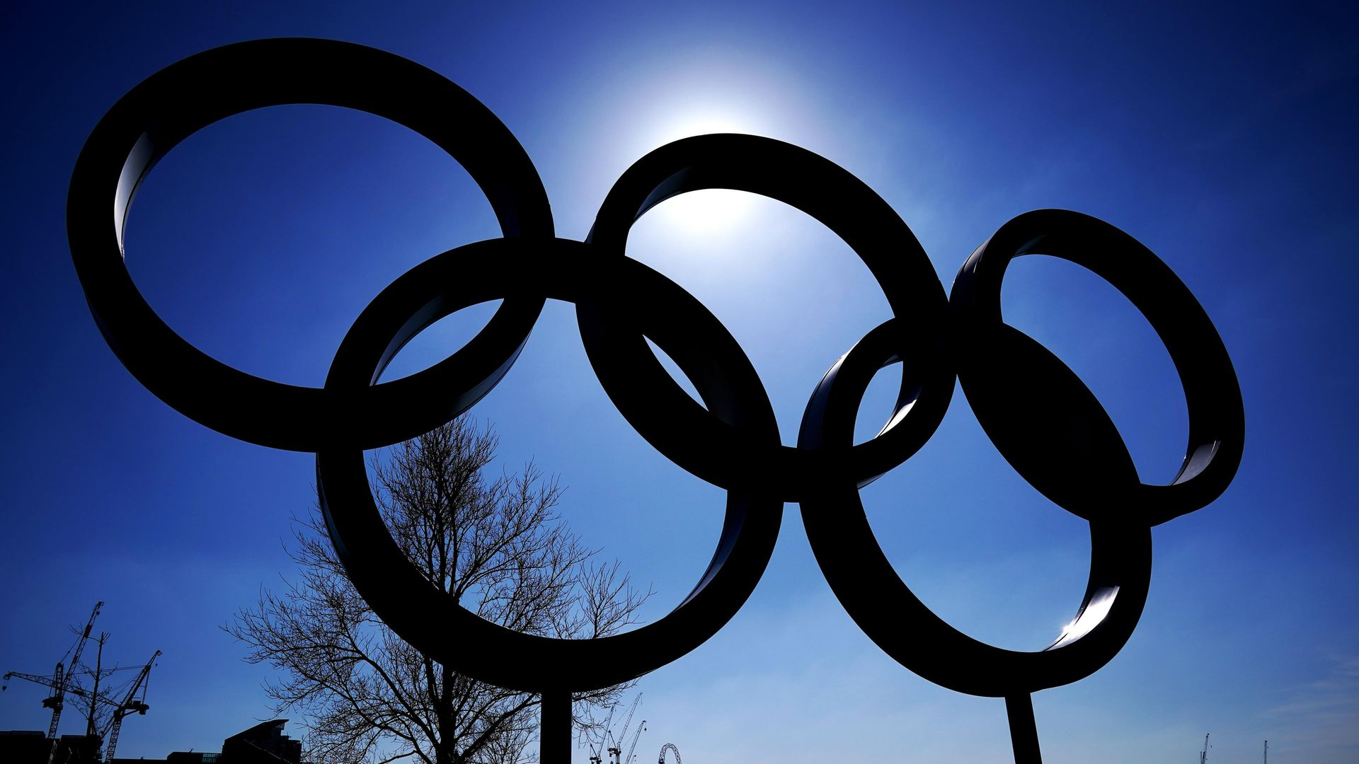 The Olympic rings near Queen Elizabeth Olympic Park in London (question four) - Credit: PA
