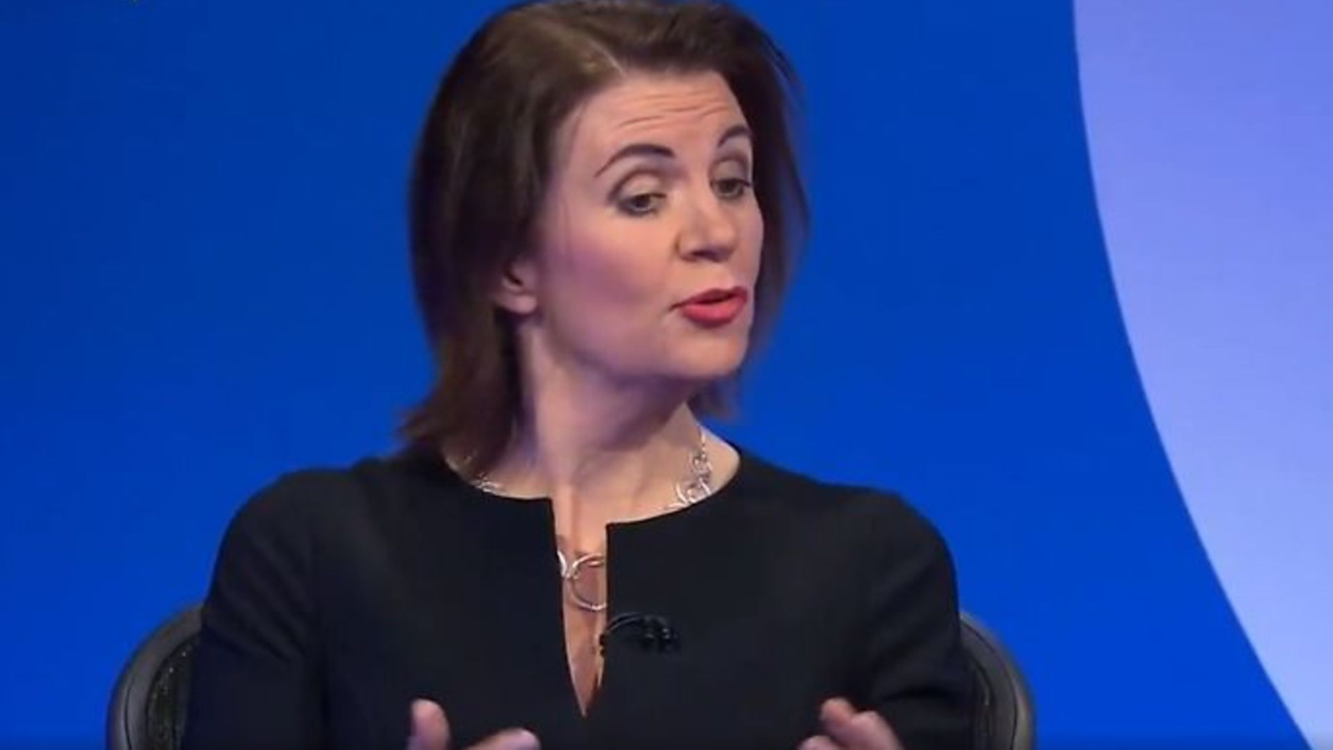 Julia Hartley-Brewer on Question Time - Credit: Twitter