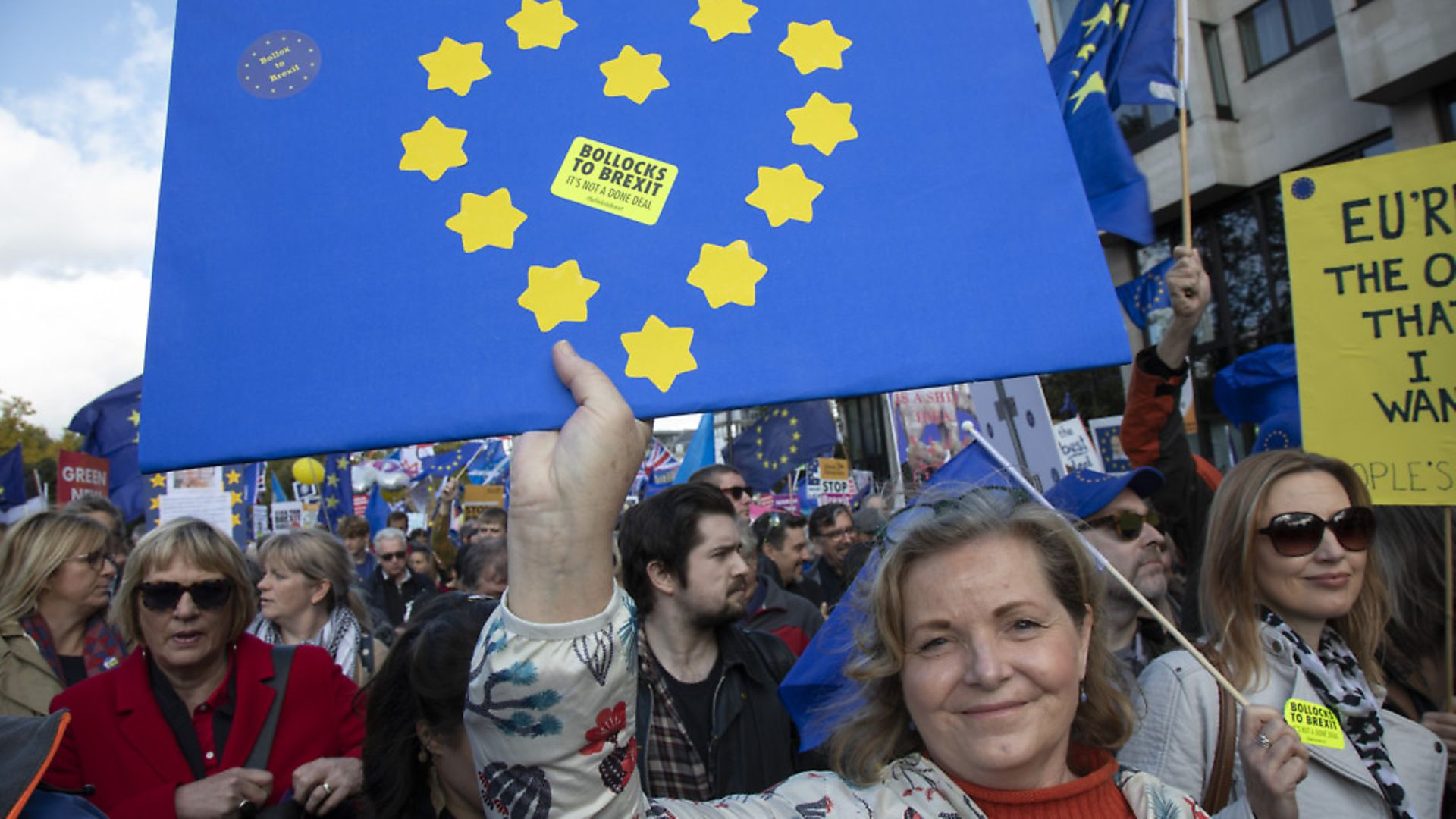 Remainers march against Brexit in London. (Photo by Mike Kemp/In Pictures via Getty Images) - Credit: In Pictures via Getty Images