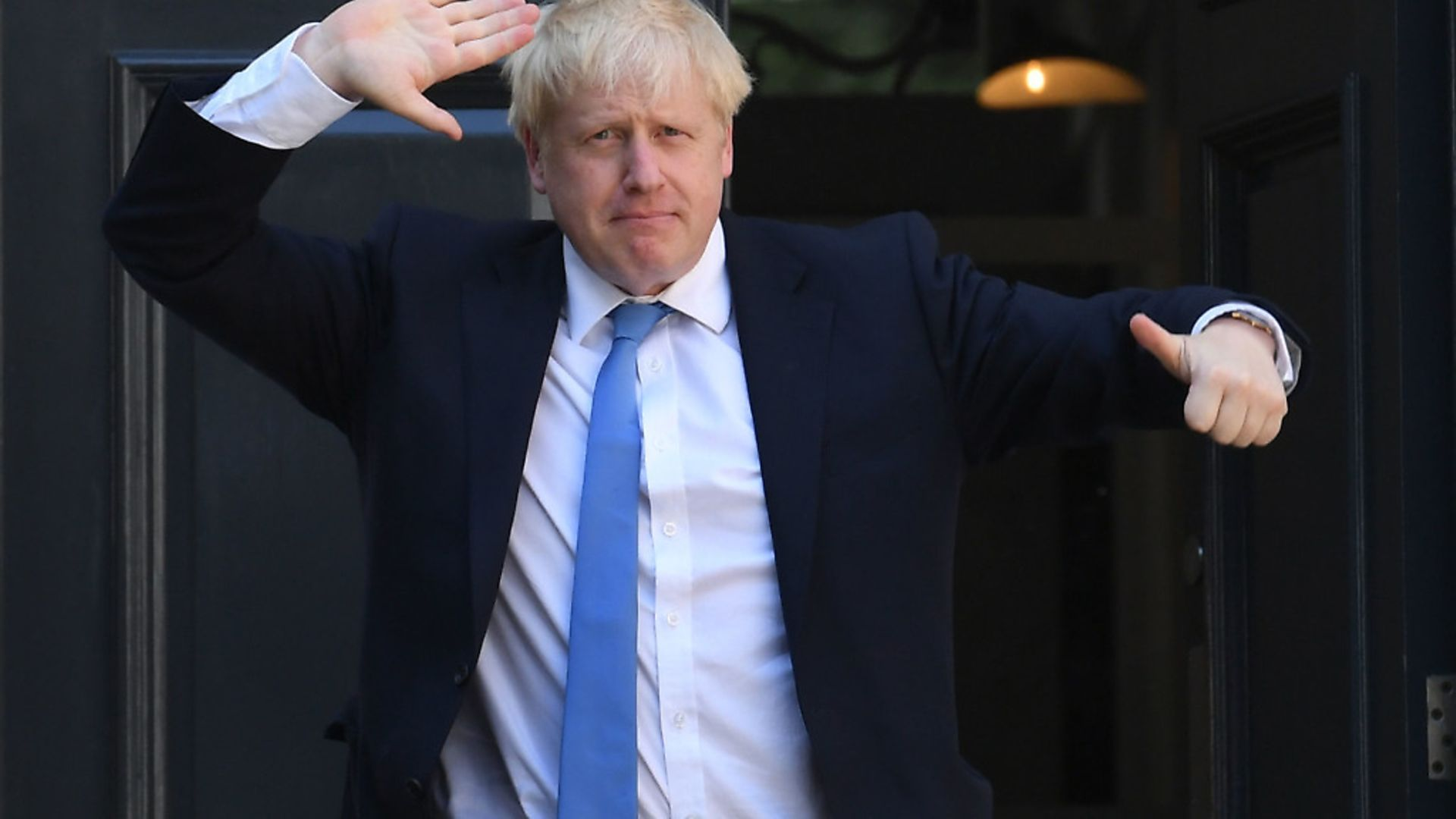 Prime minister Boris Johnson arriving at Conservative party HQ in Westminste. Photograph: Stefan Rousseau/PA Wire - Credit: PA
