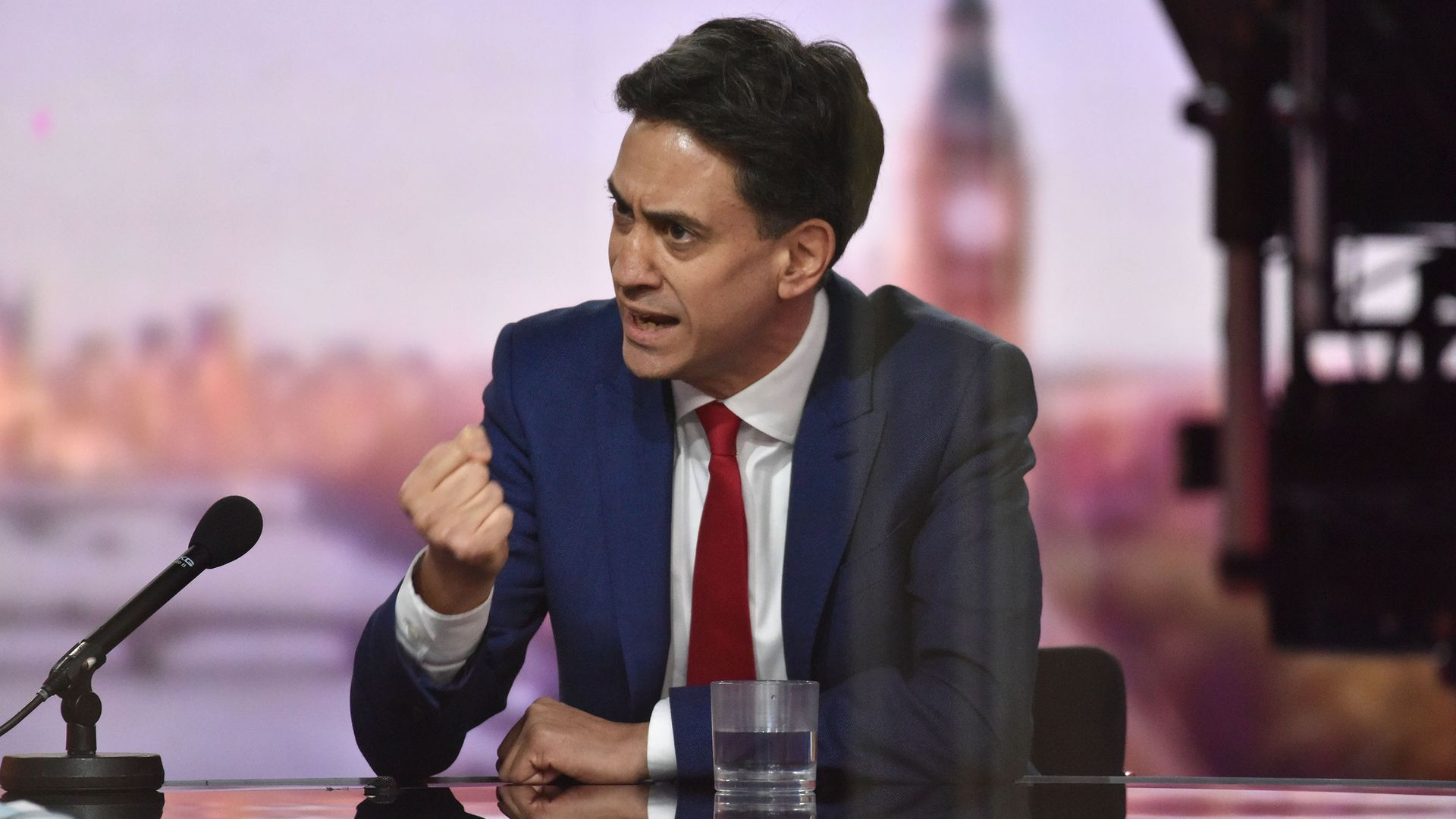 Shadow business secretary Ed Miliband appearing on the BBC1 current affairs programme, The Andrew Marr Show. - Credit: PA