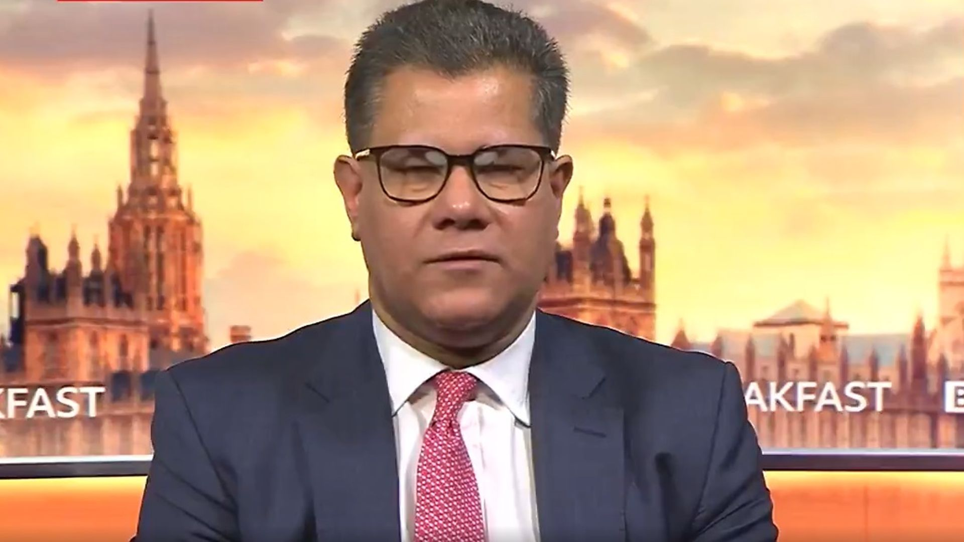 Alok Sharma on BBC Breakfast - Credit: BBC
