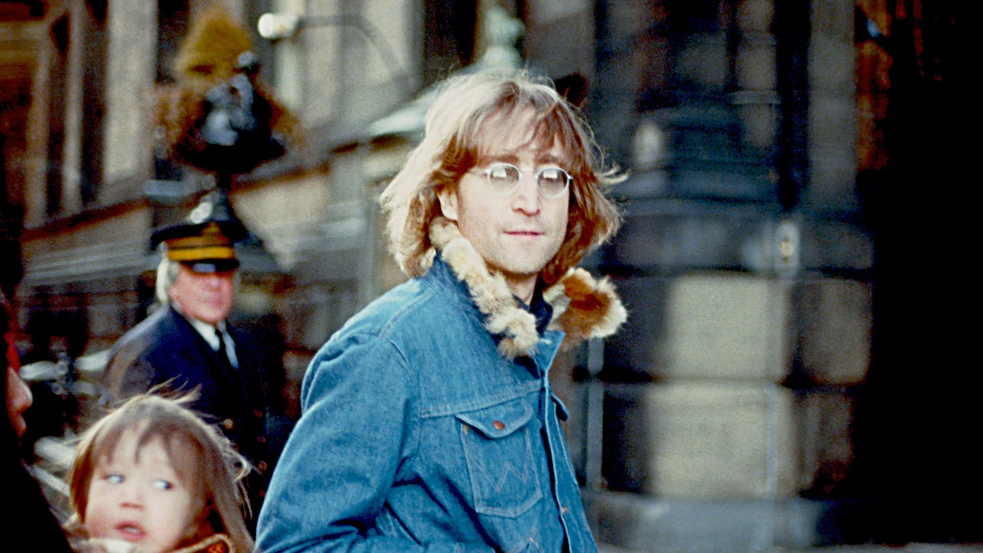 John Lennon in New York in 1977, with wife Yoko Ono and son Sean - Credit: Getty Images