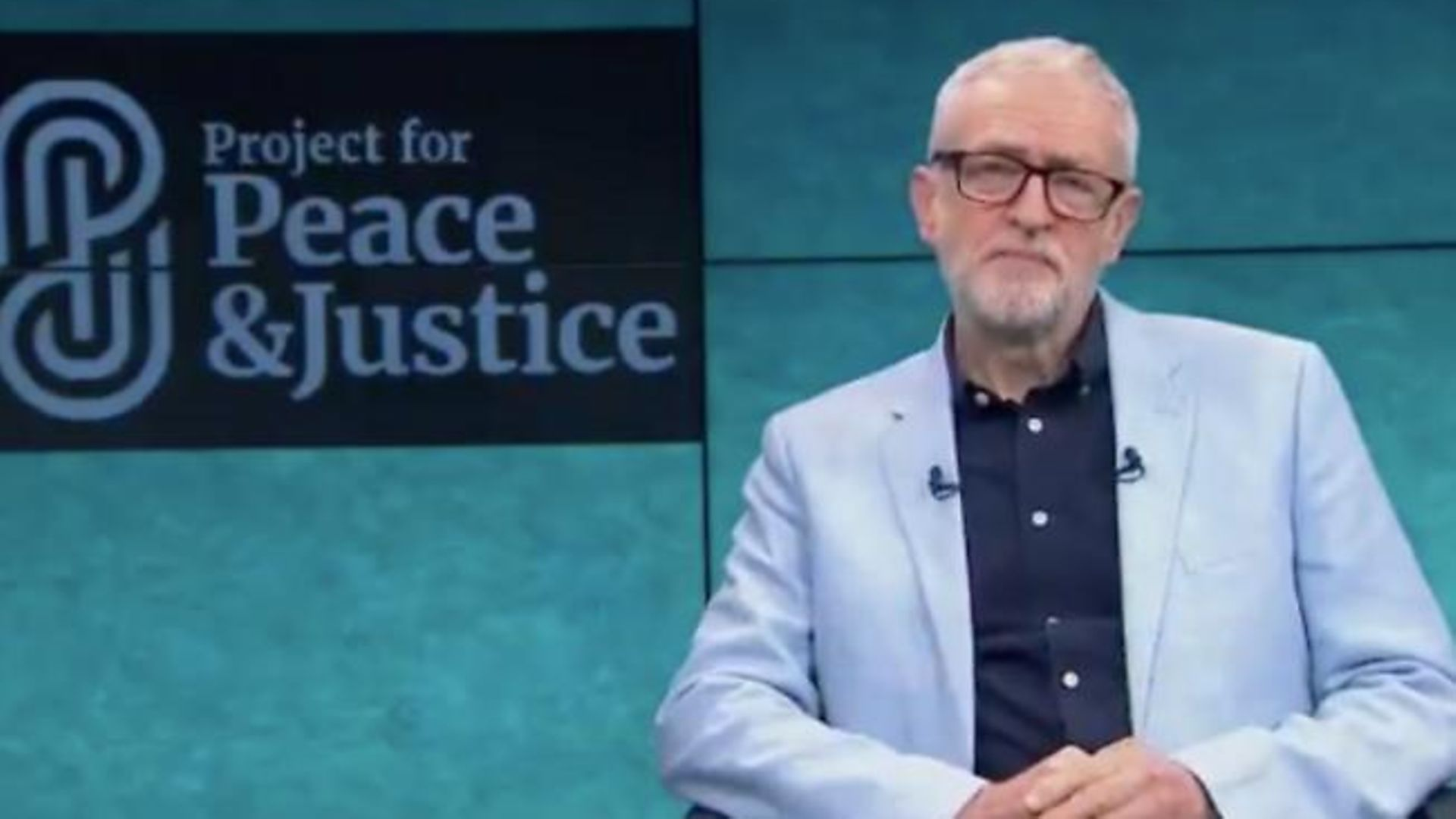 Jeremy Corbyn announces his new peace project - Credit: Twitter