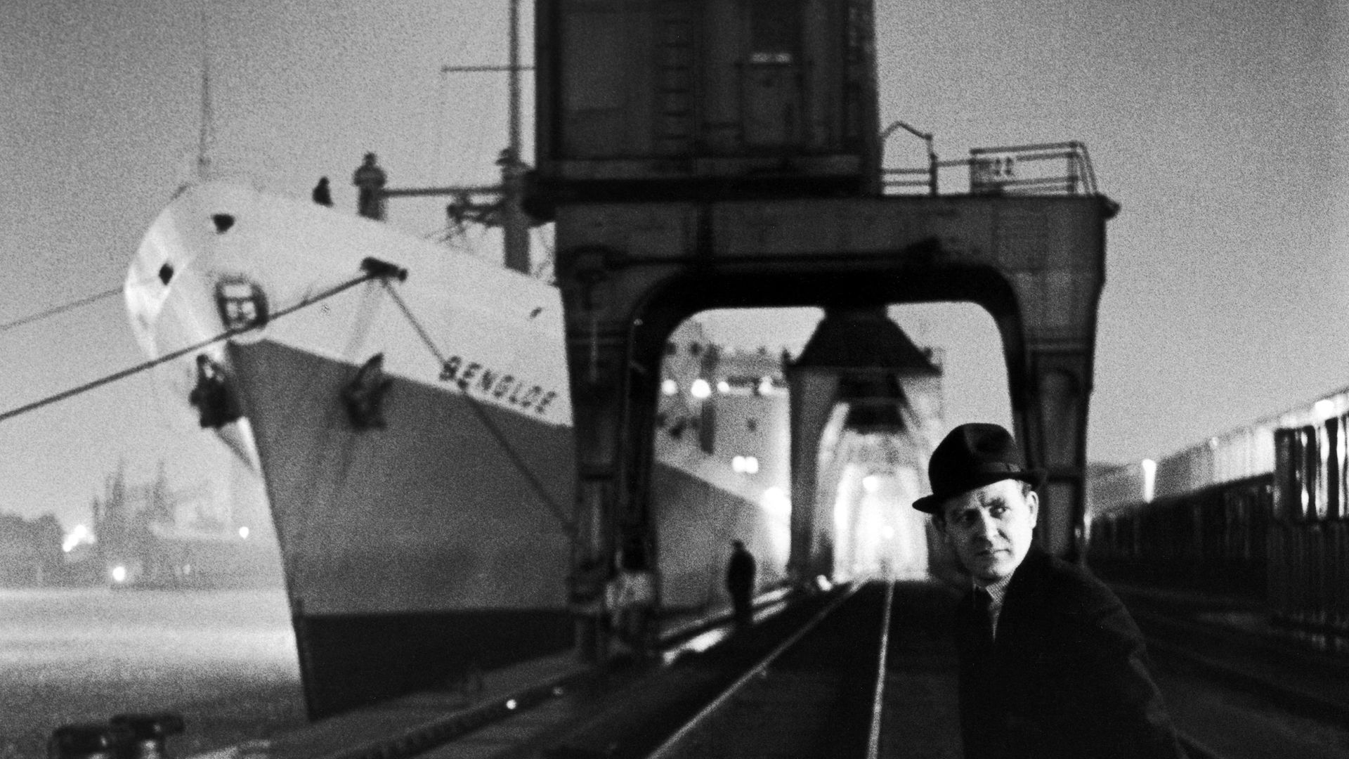 David Cornwell, or John le Carré, photographed down at the docks in 1964 - Credit: The LIFE Picture Collection via